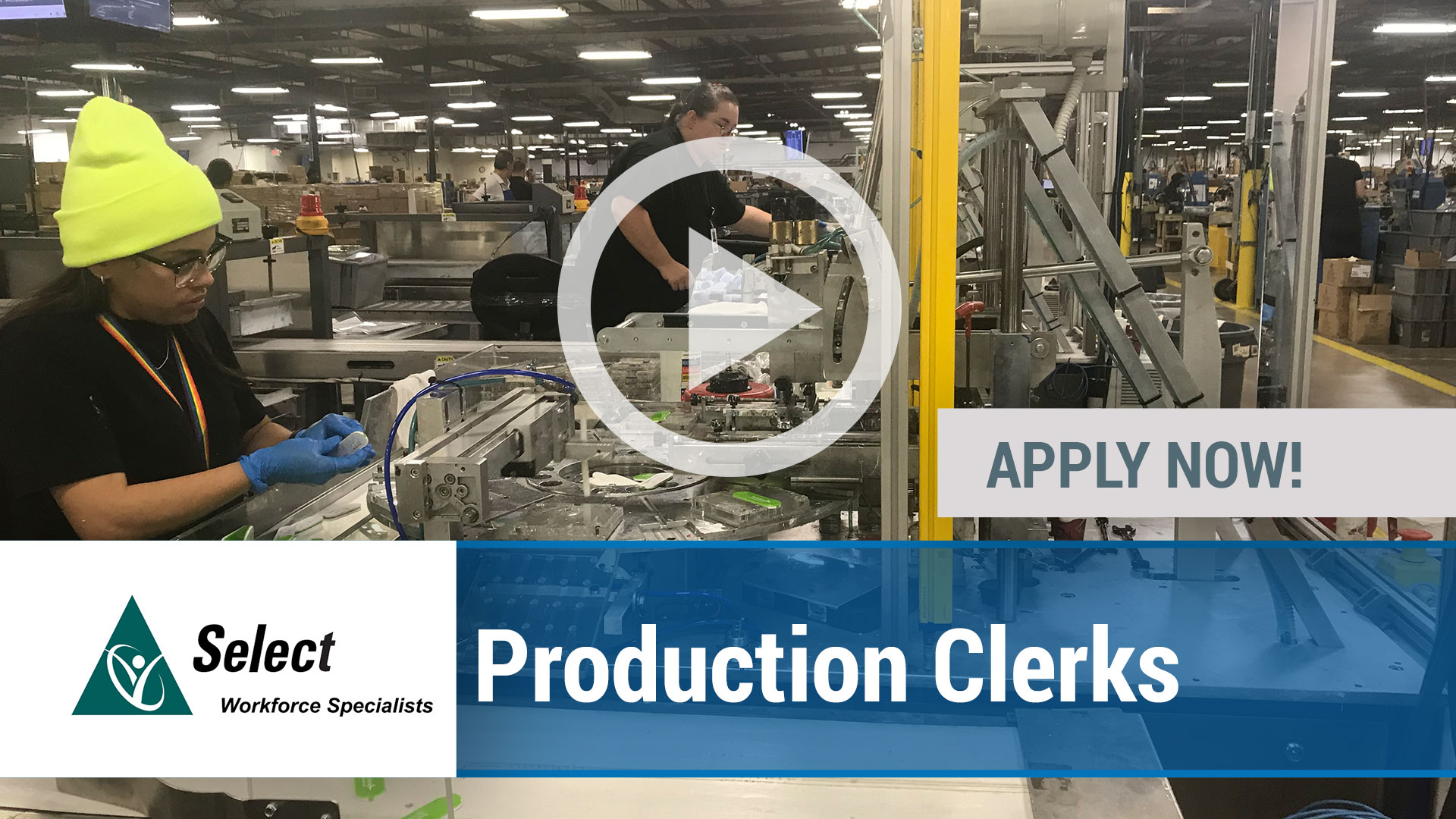 Watch our careers video for available job opening Production Clerks in Largo, FL.  USA