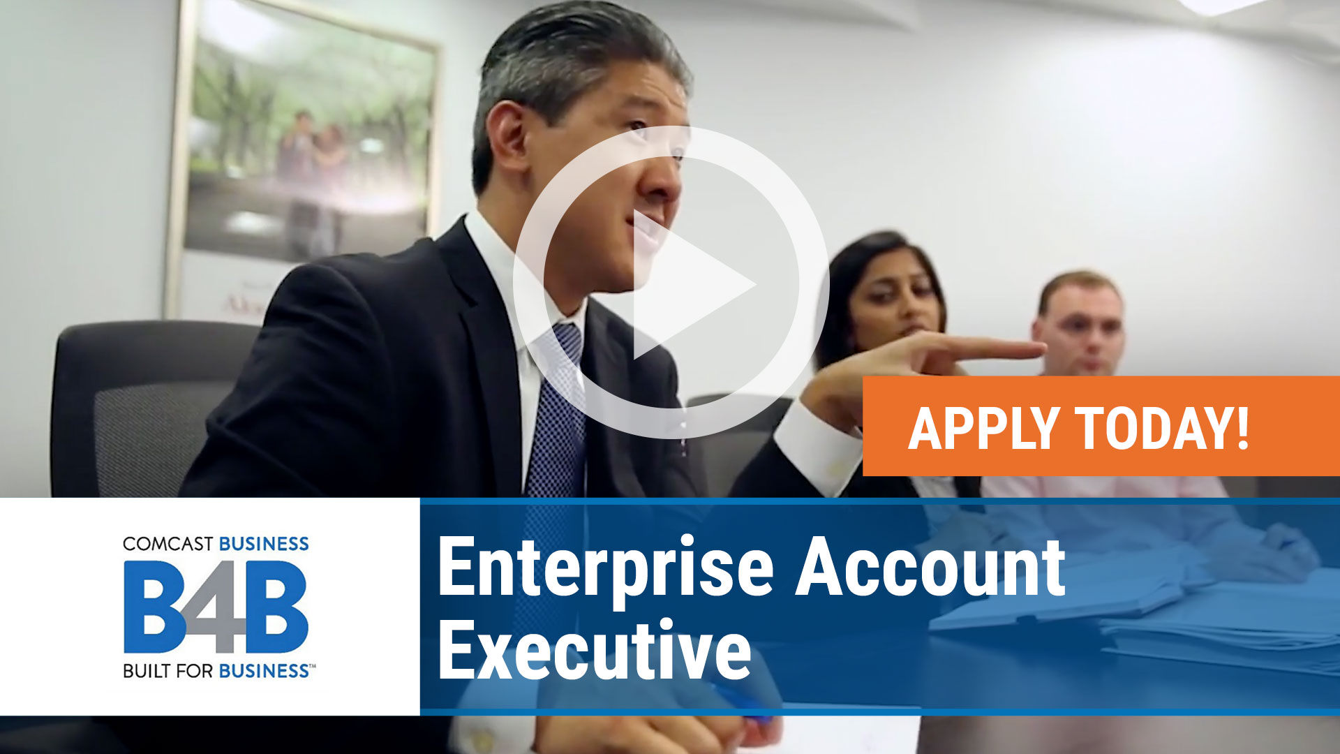 Watch our careers video for available job opening Enterprise Account Executive in Nationwide, USA