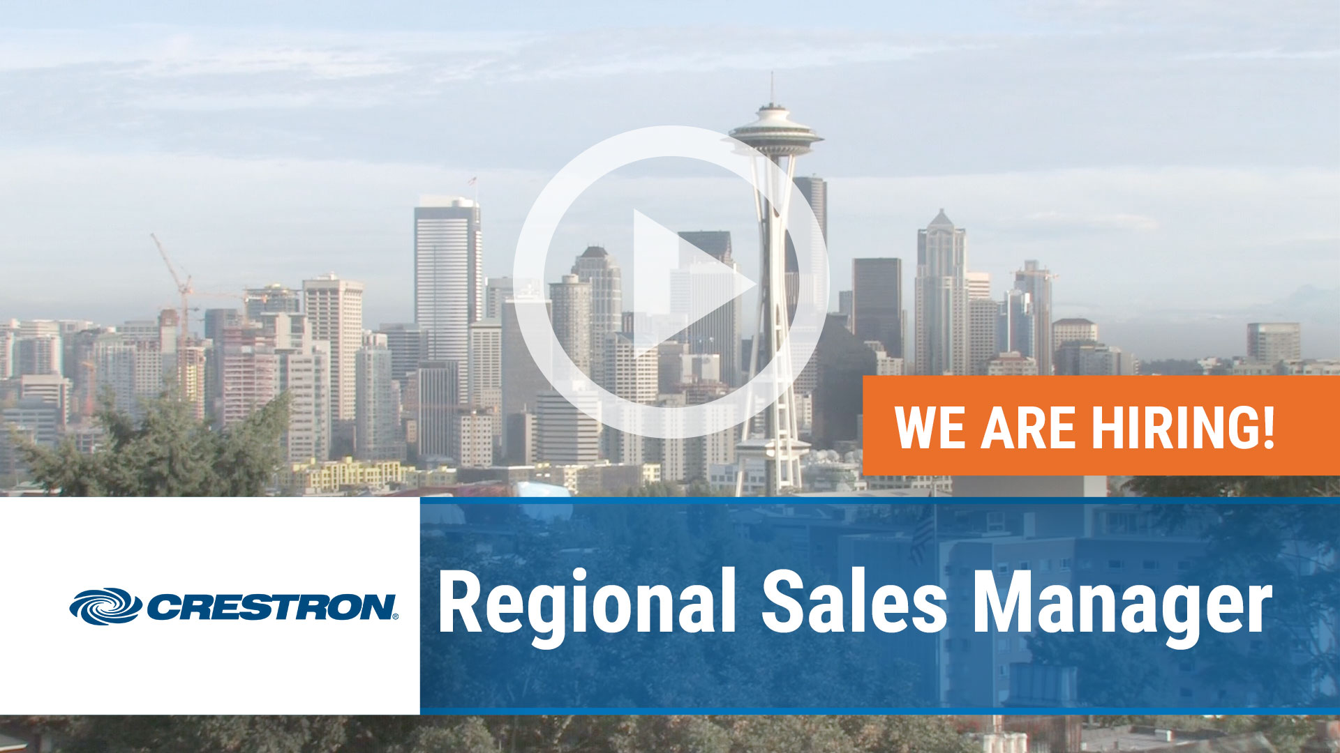 Watch our careers video for available job opening Regional Sales Manager in Seattle, WA