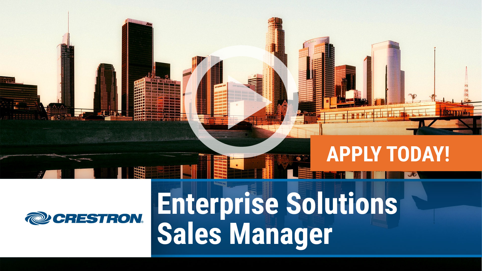 Watch our careers video for available job opening Enterprise Solutions Sales Manager in Los Angeles, California