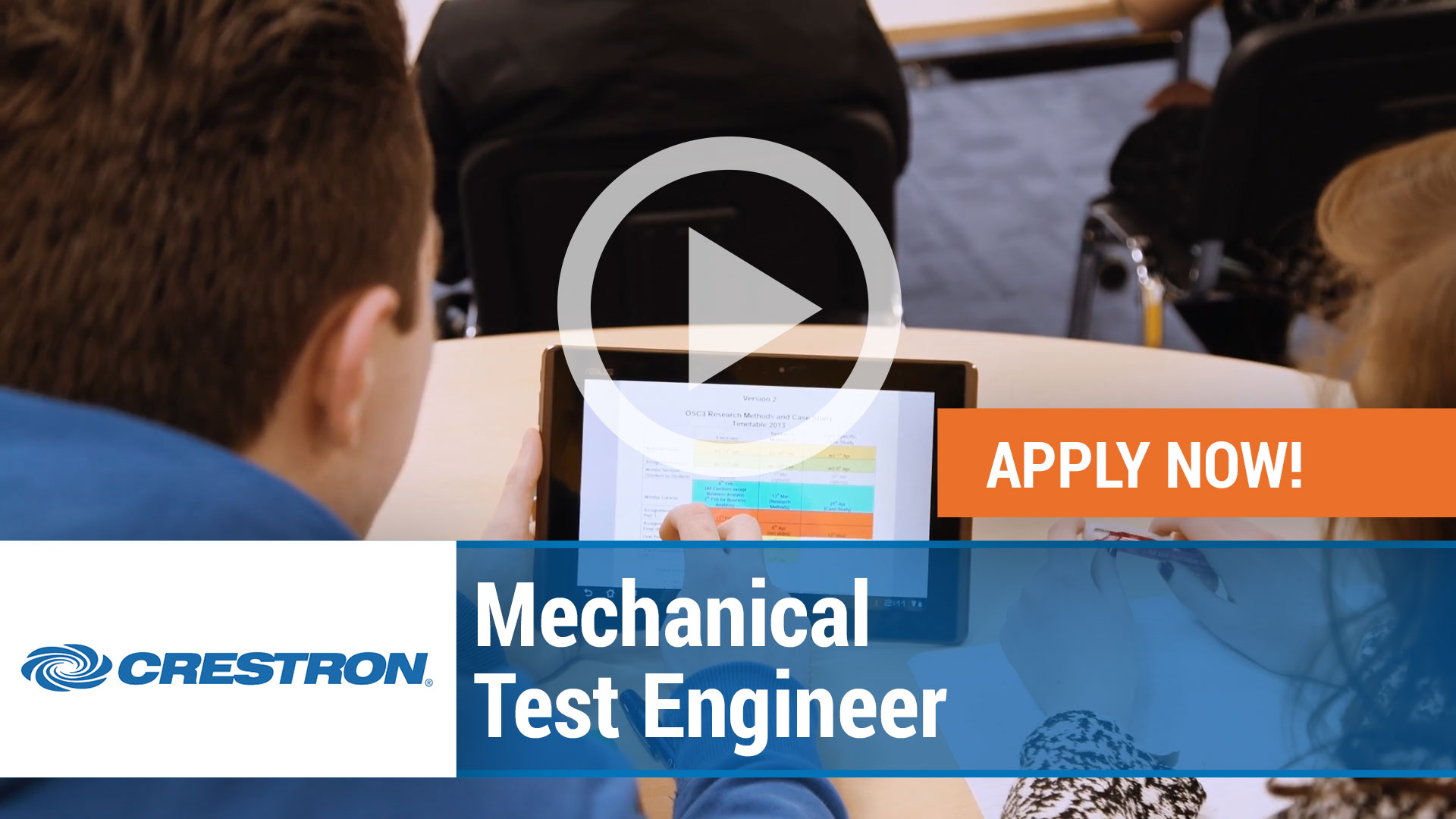 Watch our careers video for available job opening Mechanical Test Engineer in Orangeburg, New York