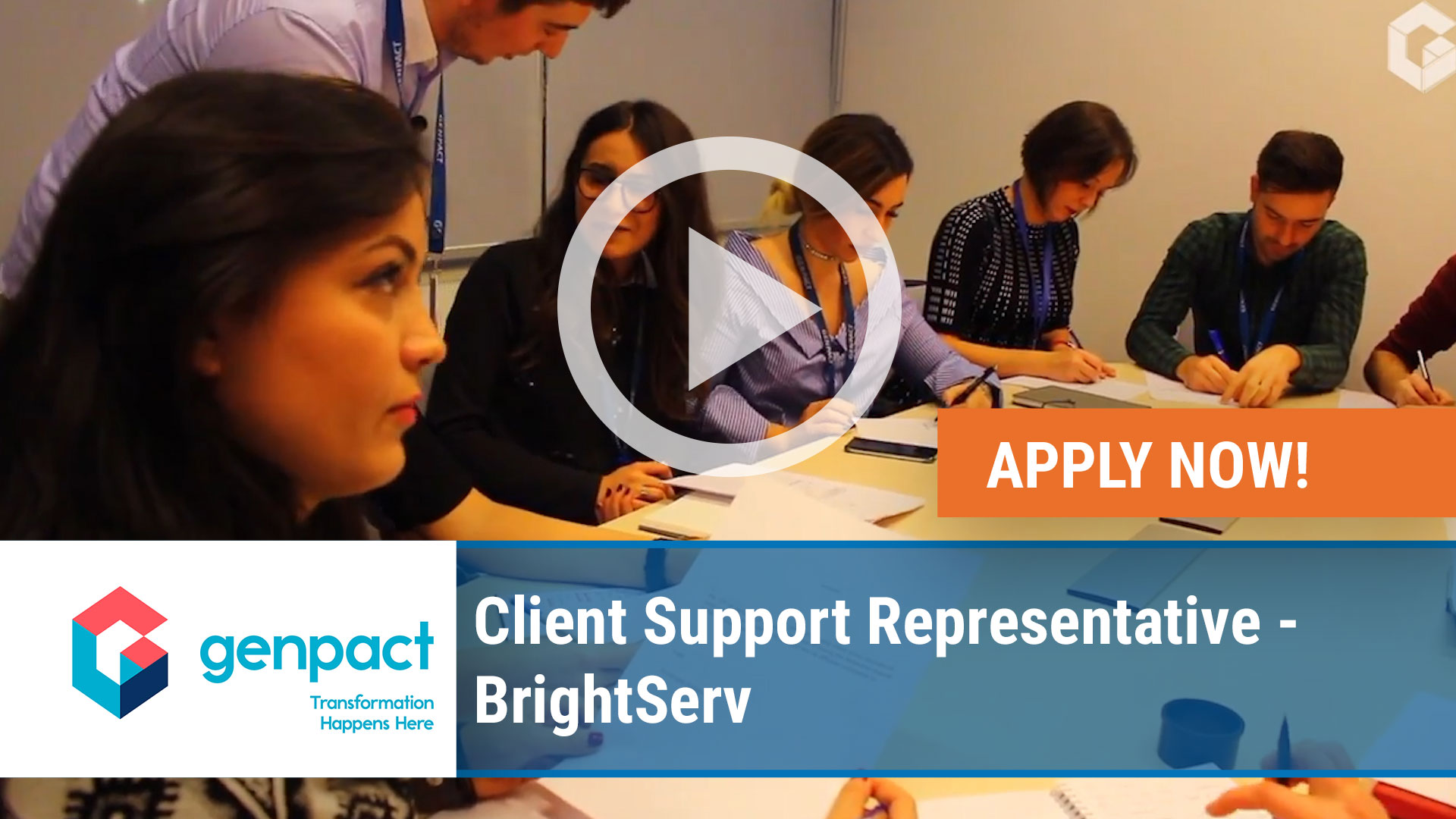 Watch our careers video for available job opening Client Support Representative - BrightServ in Sandy Springs, Georgia