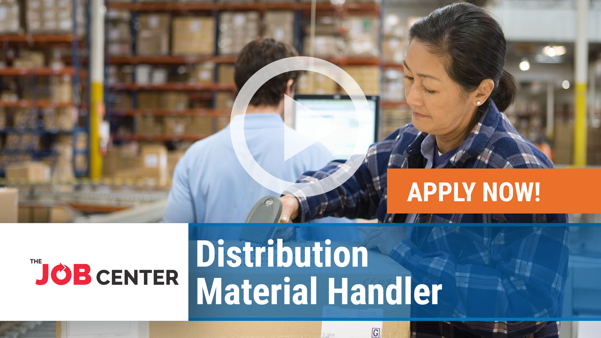 Watch our careers video for available job opening Distribution Material Handler in Multiple, Ohio/ Kentucky/ Indiana/ New Hampshire/ Texas