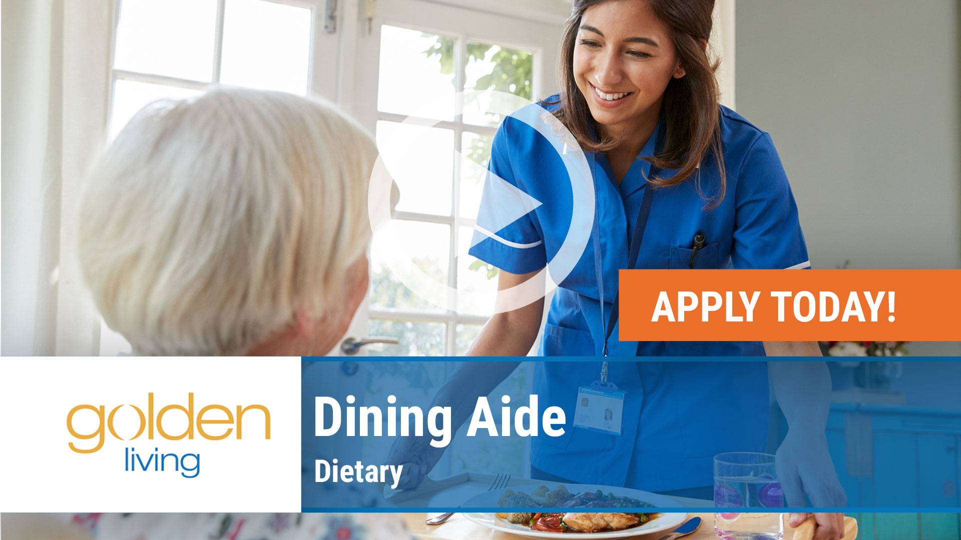 Watch our careers video for available job opening Dietary - Dining Aide in Indiana, IN