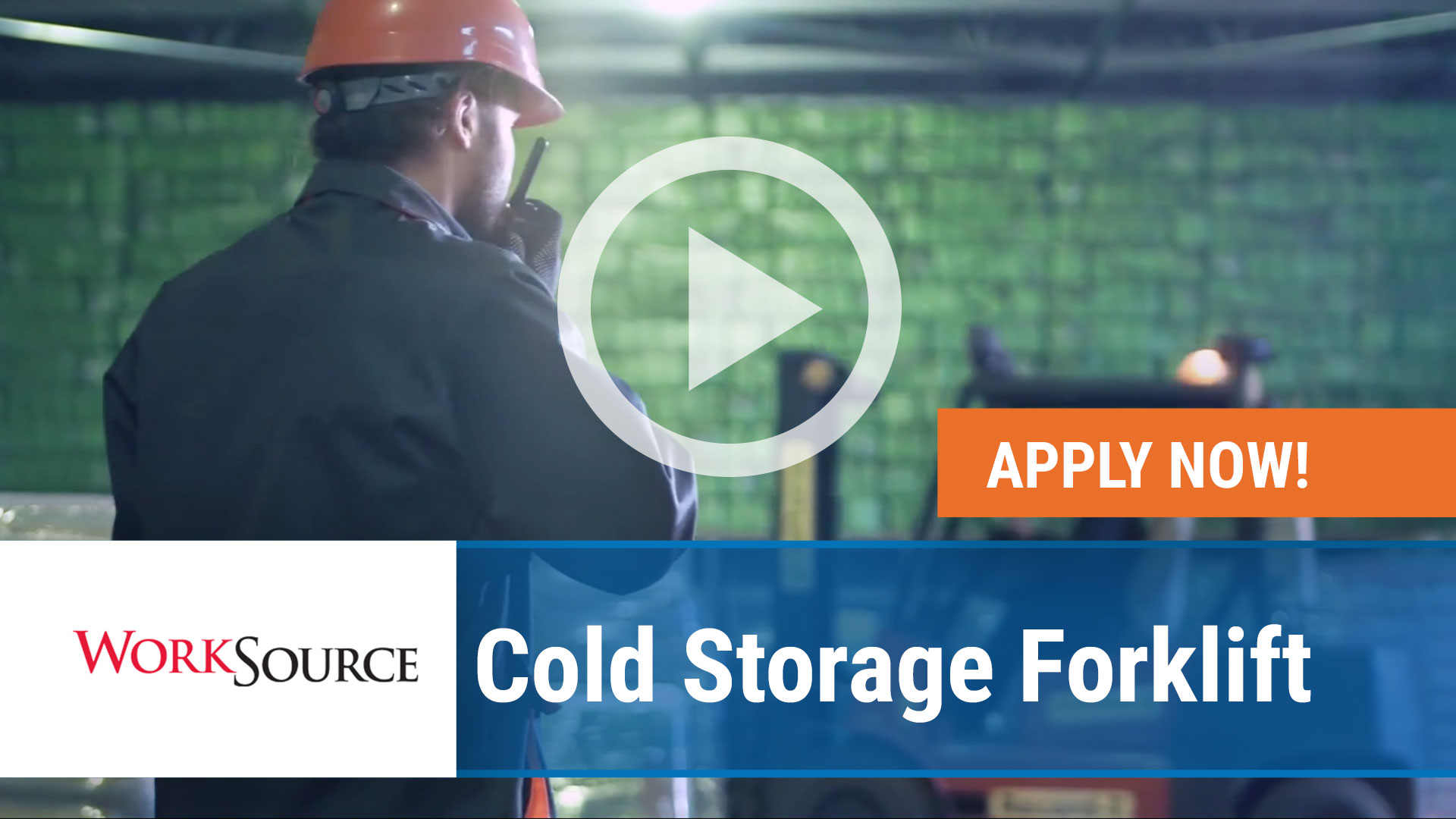 Watch our careers video for available job opening WS Cold Storage Forklift in Fort Smith,   Arkansas