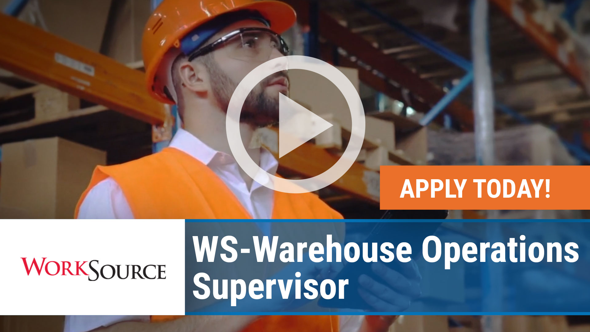 Watch our careers video for available job opening WS Warehouse Operations Supervisor in Lowell, Arkansas