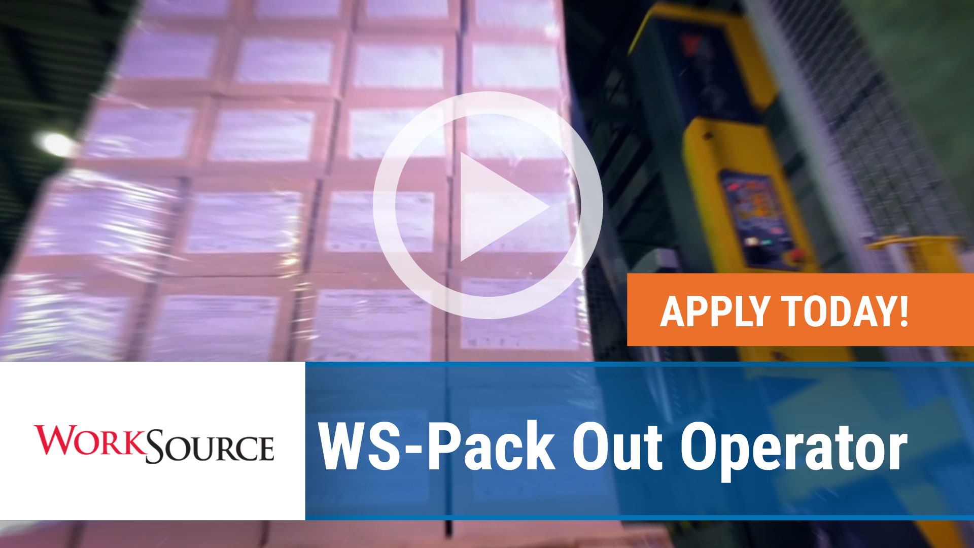 Watch our careers video for available job opening WS Pack Out Operator in Siloam Springs, Arkansas