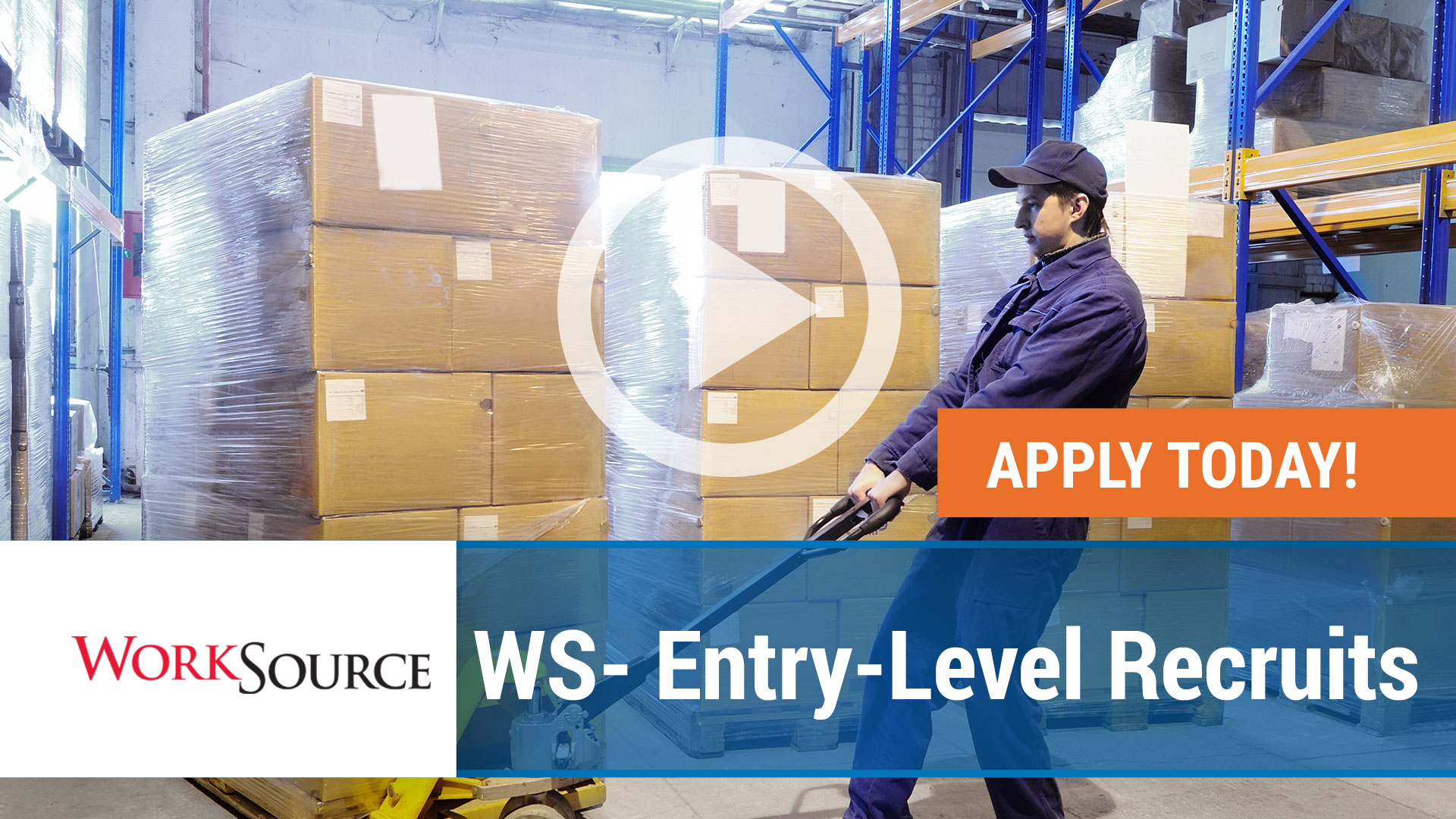 Watch our careers video for available job opening WS Entry-Level Recruits for WorkSource in Springdale,  AR