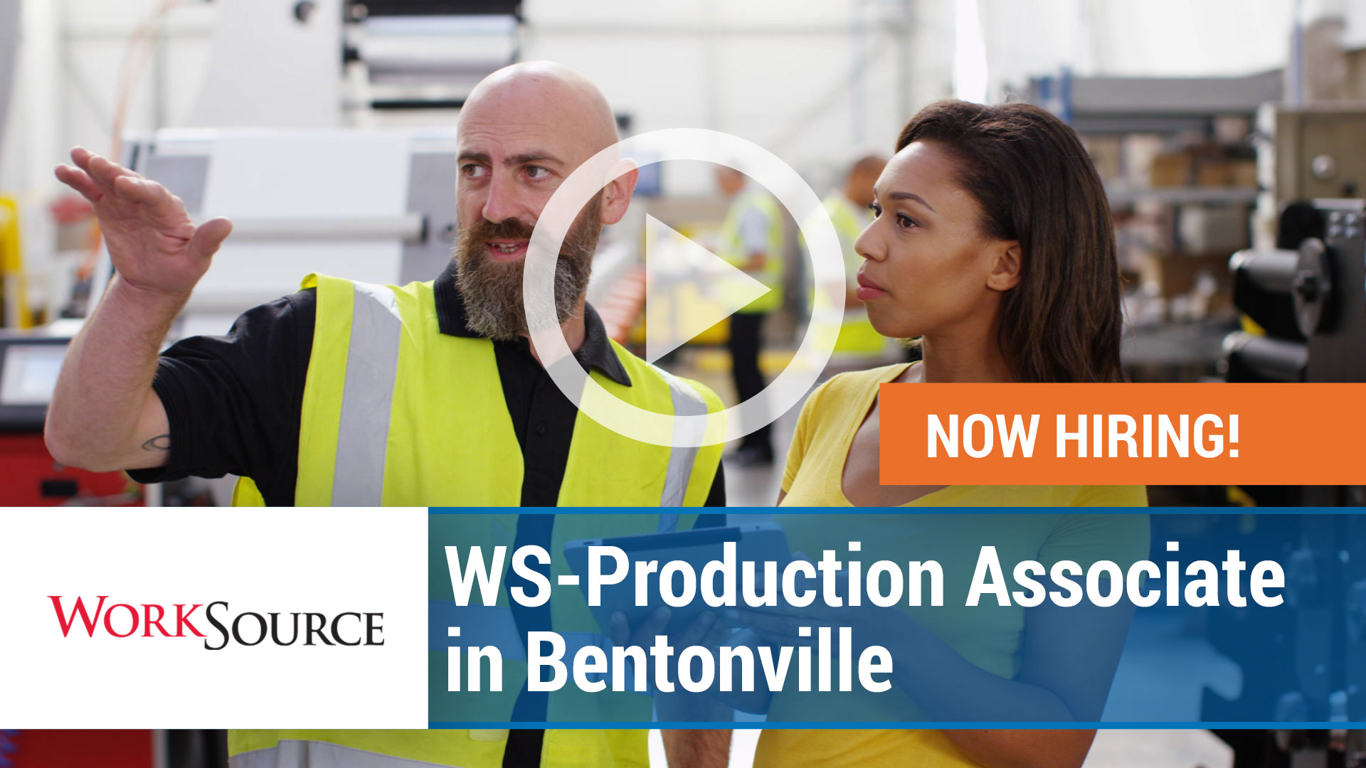 Watch our careers video for available job opening Production Associate in Bentonville, AR, USA