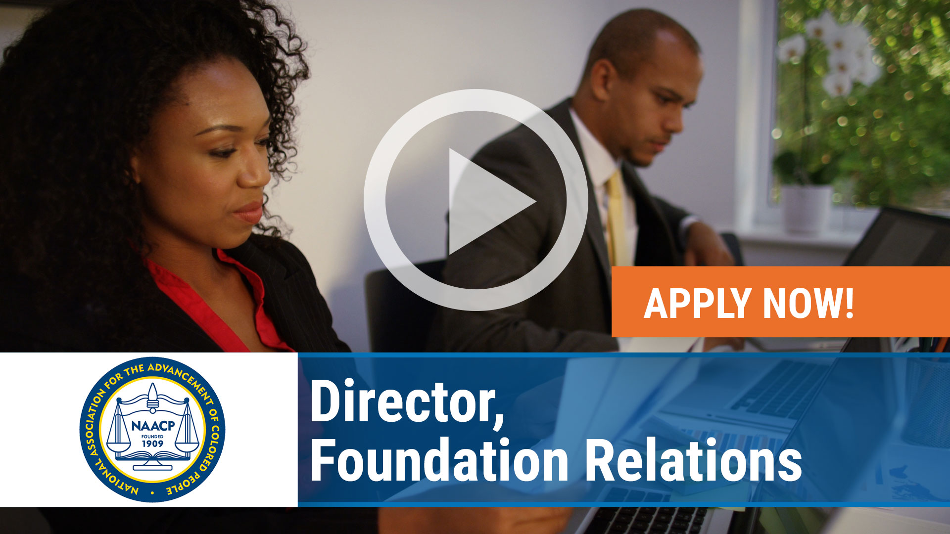 Watch our careers video for available job opening Director, Foundation Relations for the NAACP in Baltimore, Maryland