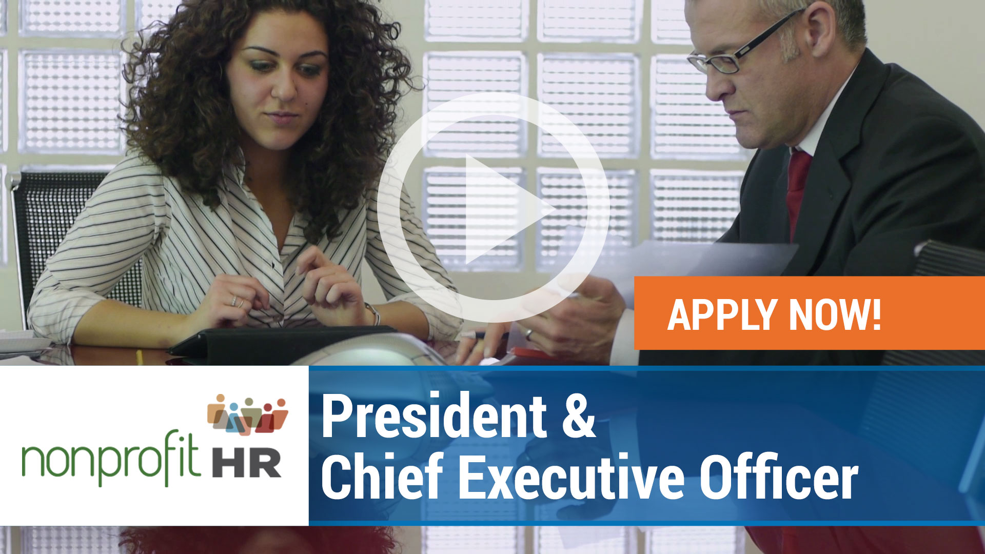 Watch our careers video for available job opening President and Chief Executive Officer of NBCC in Greensboro, North Carolina