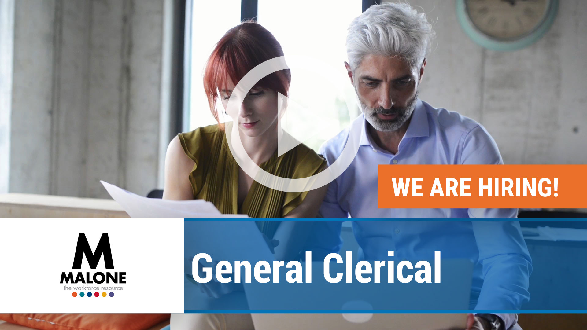 Watch our careers video for available job opening General Clerical in Multiple Locations
