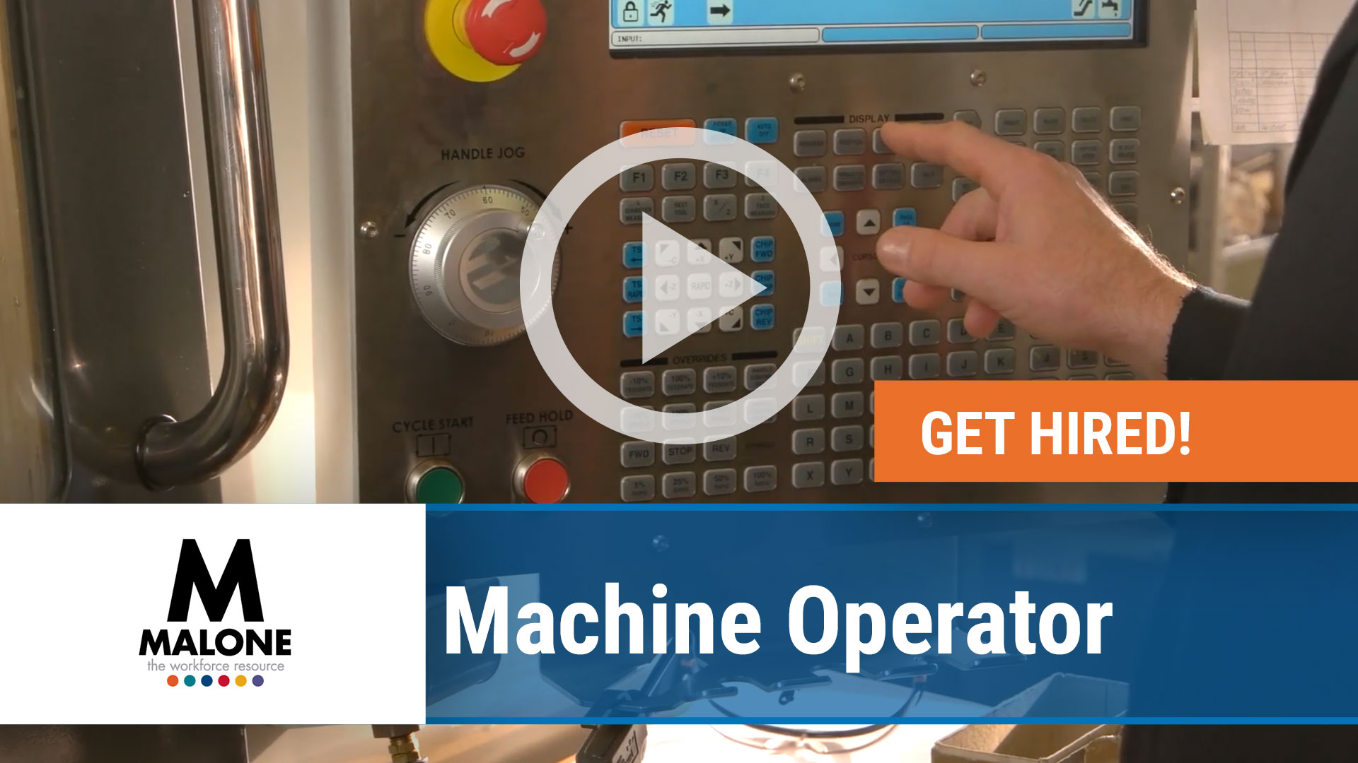 Watch our careers video for available job opening Machine Operator in Multiple Locations