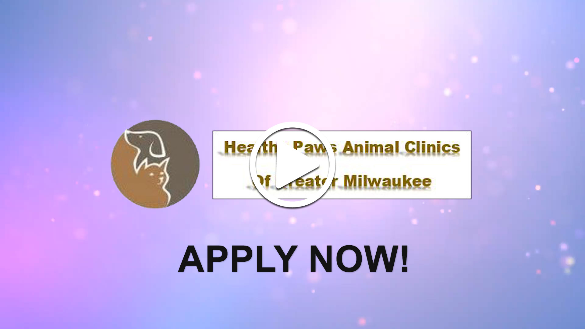 Watch our careers video for available job opening Veterinarian-Full or Part-time, 3 days per week full-time possible  in Greenfield, Wisconsin