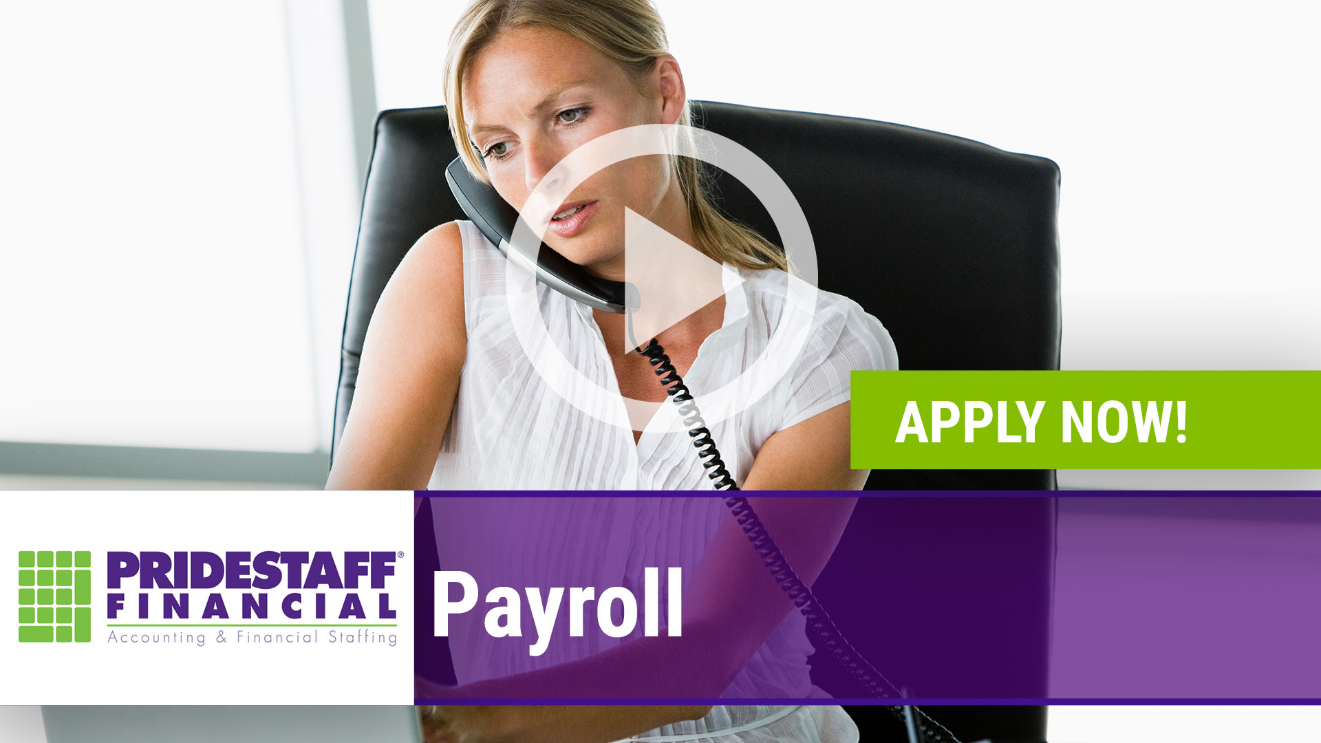 Watch our careers video for available job opening Payroll in Dallas, Texas