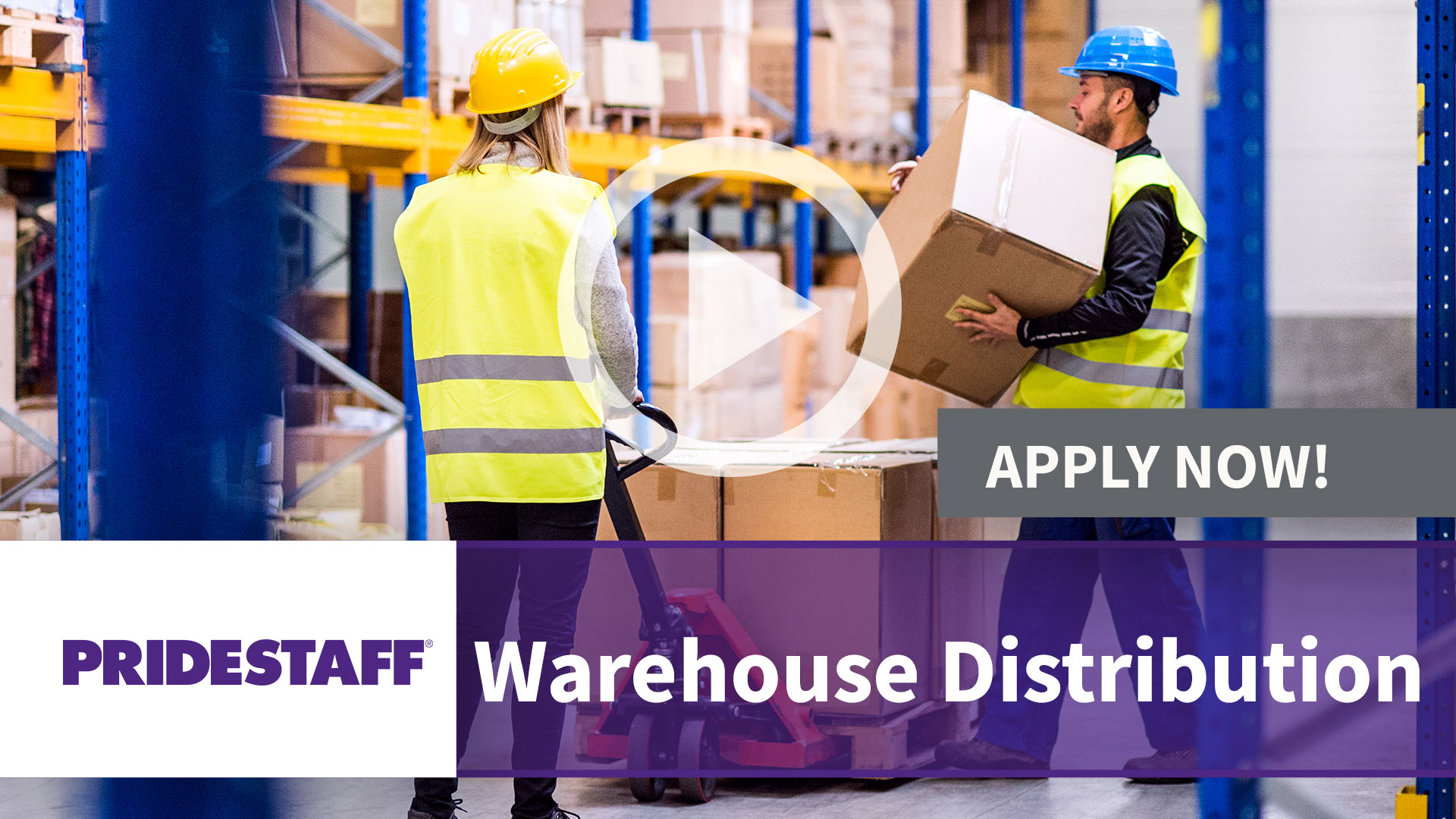 Watch our careers video for available job opening Warehouse Distribution in TBD, TBD