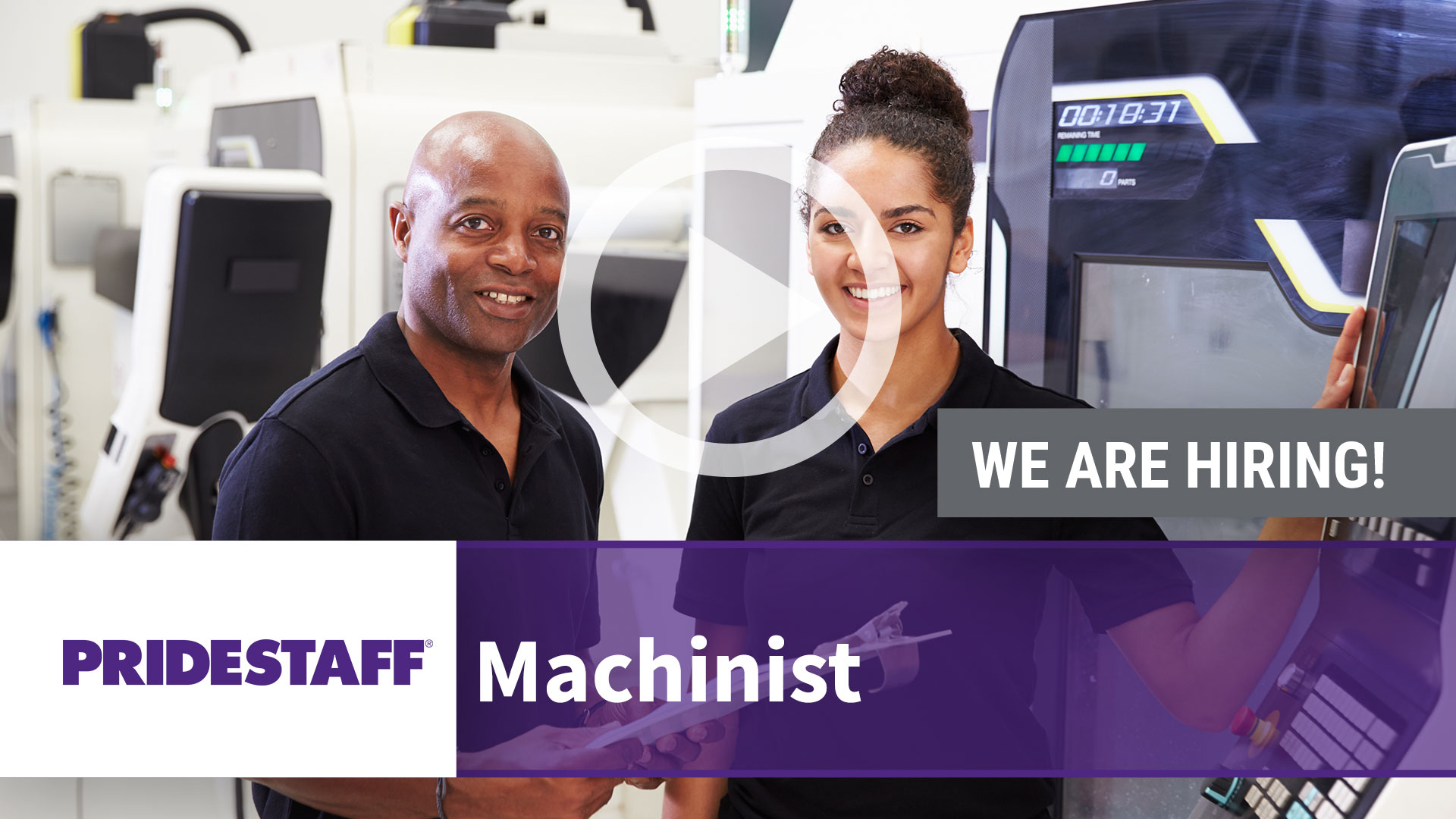 Watch our careers video for available job opening Machinist in Visalia, CA
