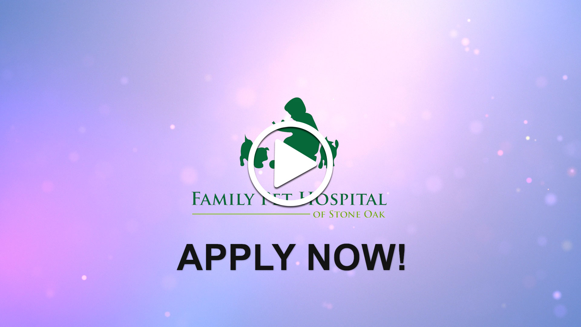 Watch our careers video for available job opening Veterinarian - Full Time  in San Antonio, Texas