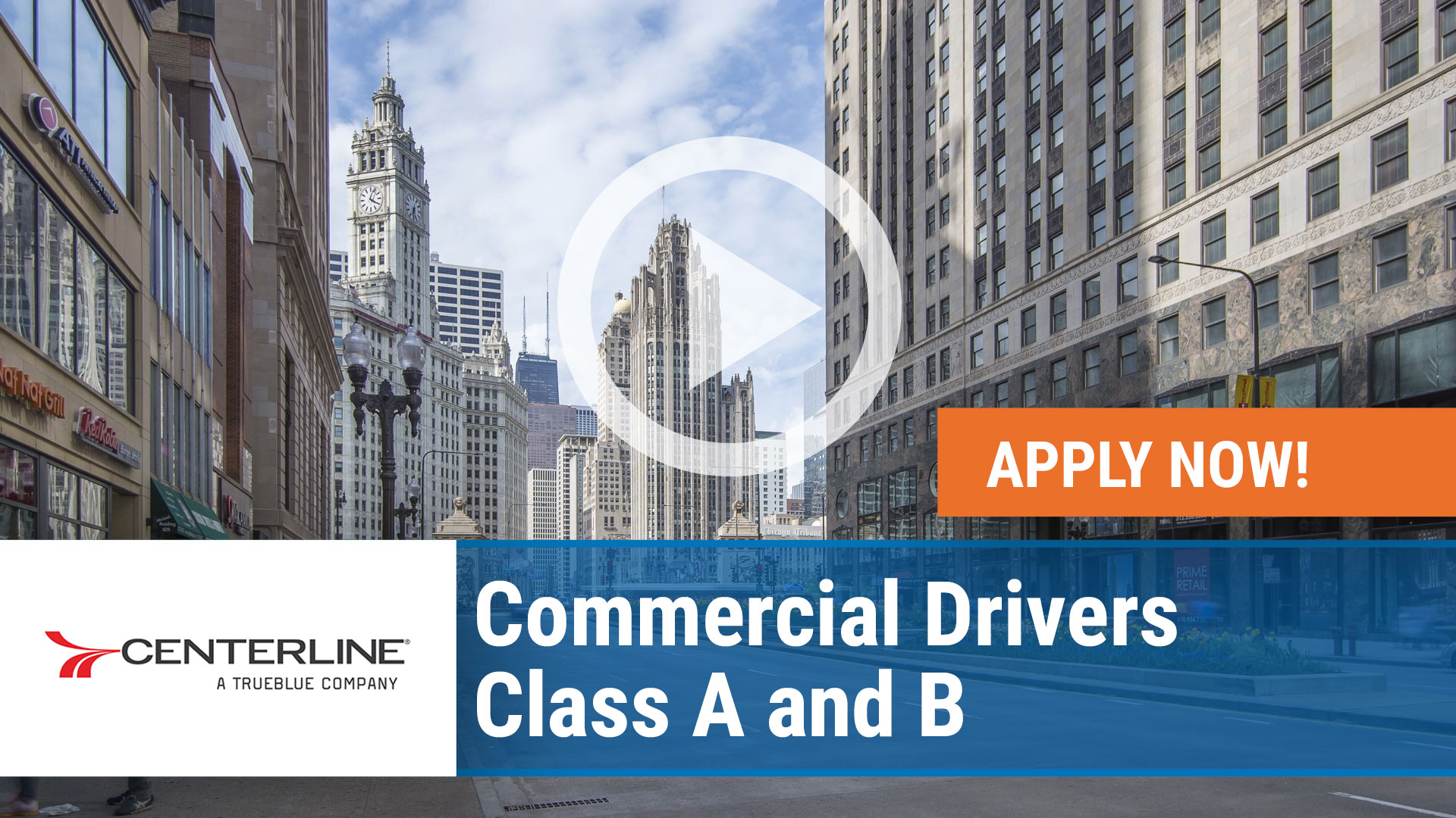 Watch our careers video for available job opening Hiring Commercial Drivers - Class A and B in Chicago, Illinois in Chicago, Illinois