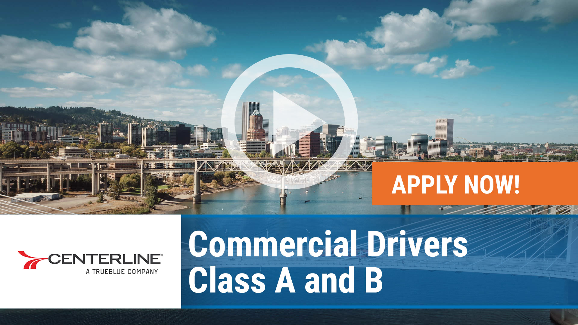 Watch our careers video for available job opening Hiring Commercial Drivers - Class A and B in Portland, Oregon in Portland, Oregon