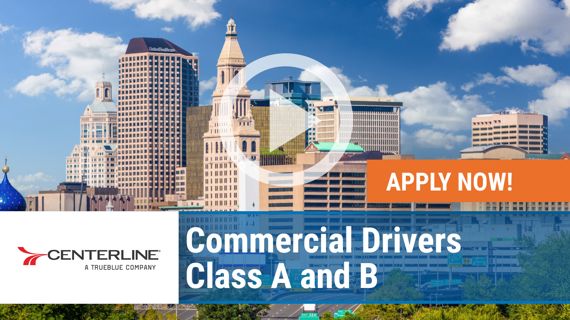 Watch our careers video for available job opening Hiring Commercial Drivers - Class A and B in Hartford, Connecticut in Hartford, Connecticut