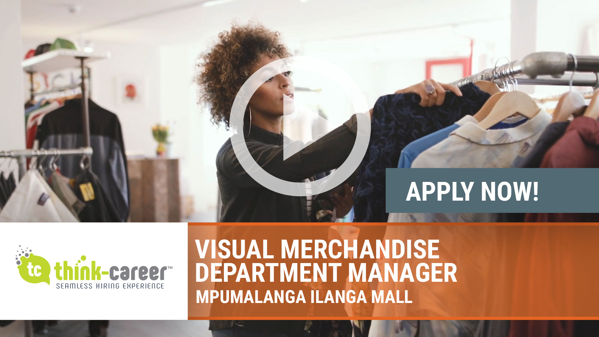Watch our careers video for available job opening Visual Merchandise Department Manager in Mpumalanga Ilanga Mall