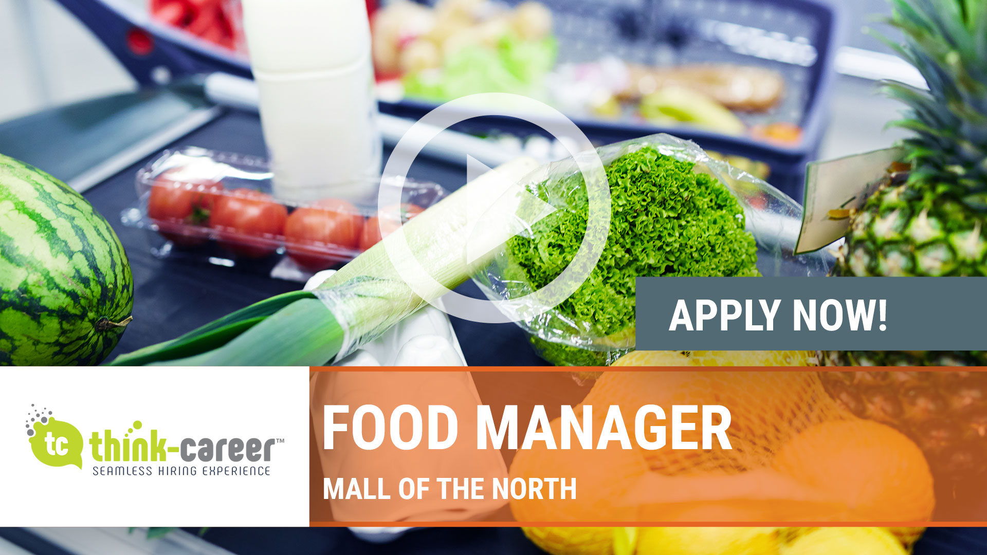 Watch our careers video for available job opening Food Manager in Mall of the North