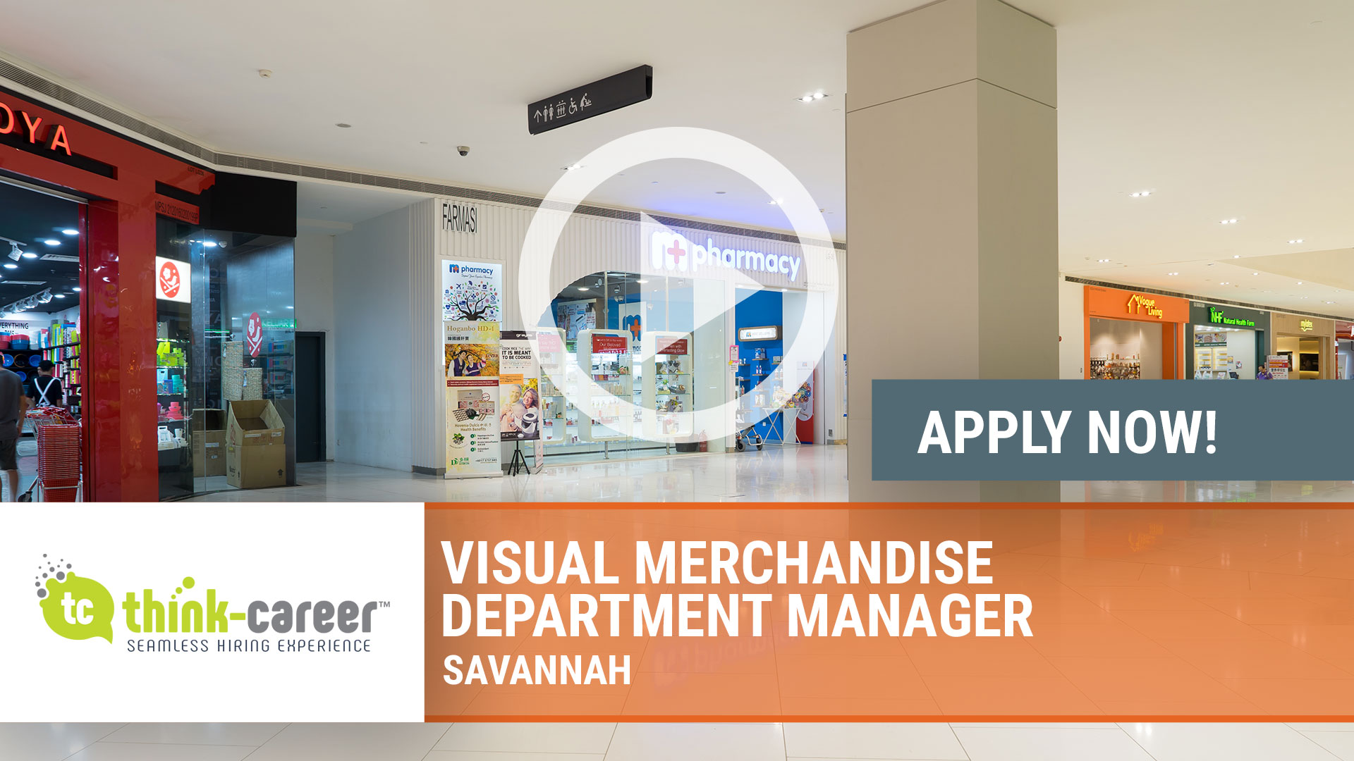 Watch our careers video for available job opening Visual Merchandise Department Manager in Savannah