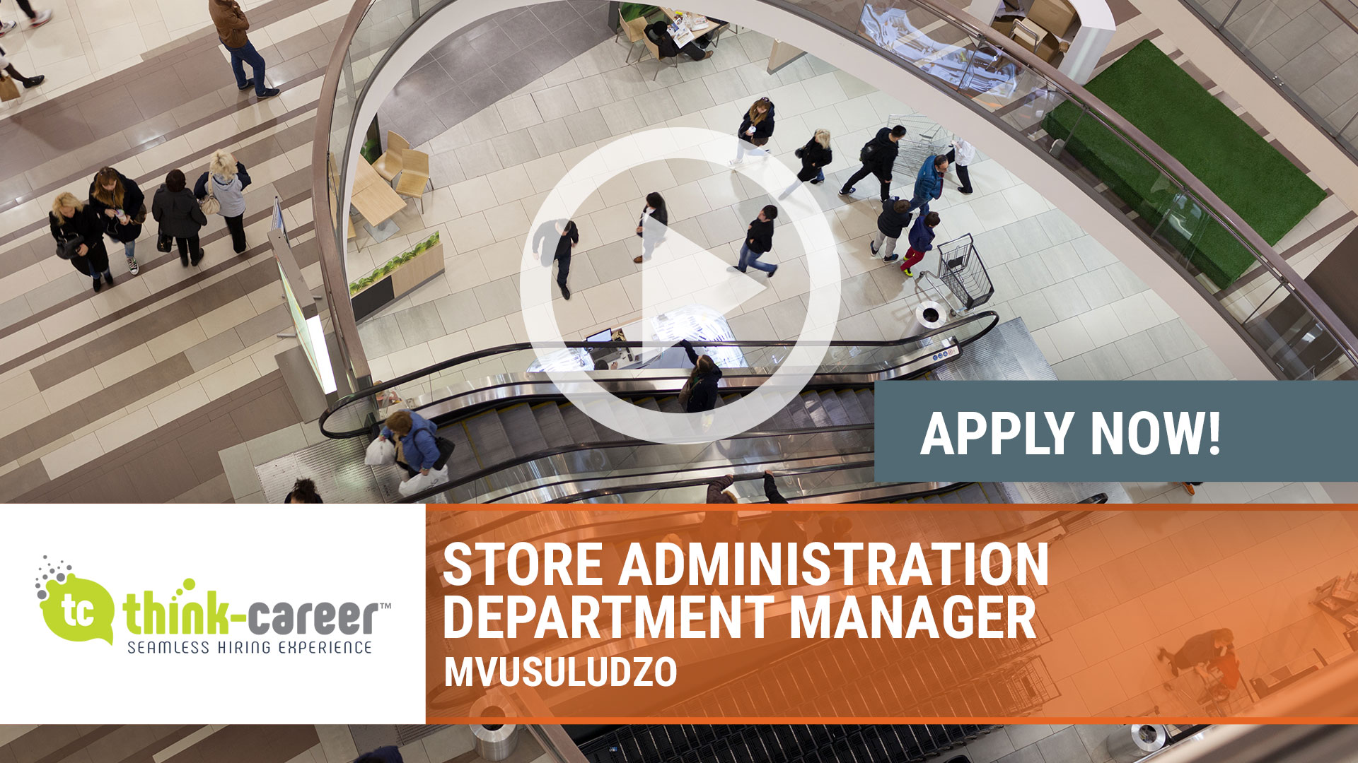 Watch our careers video for available job opening Store Administration Department Manager in Mvusuludzo
