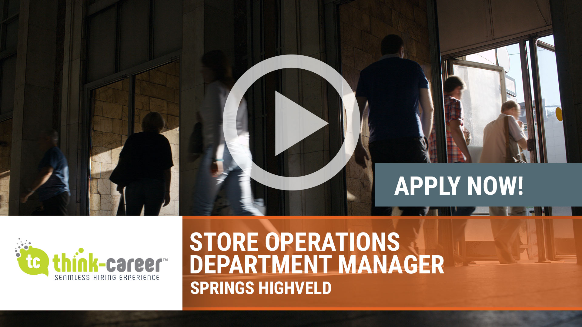 Watch our careers video for available job opening Store Operations Department Manager in Springs Highveld