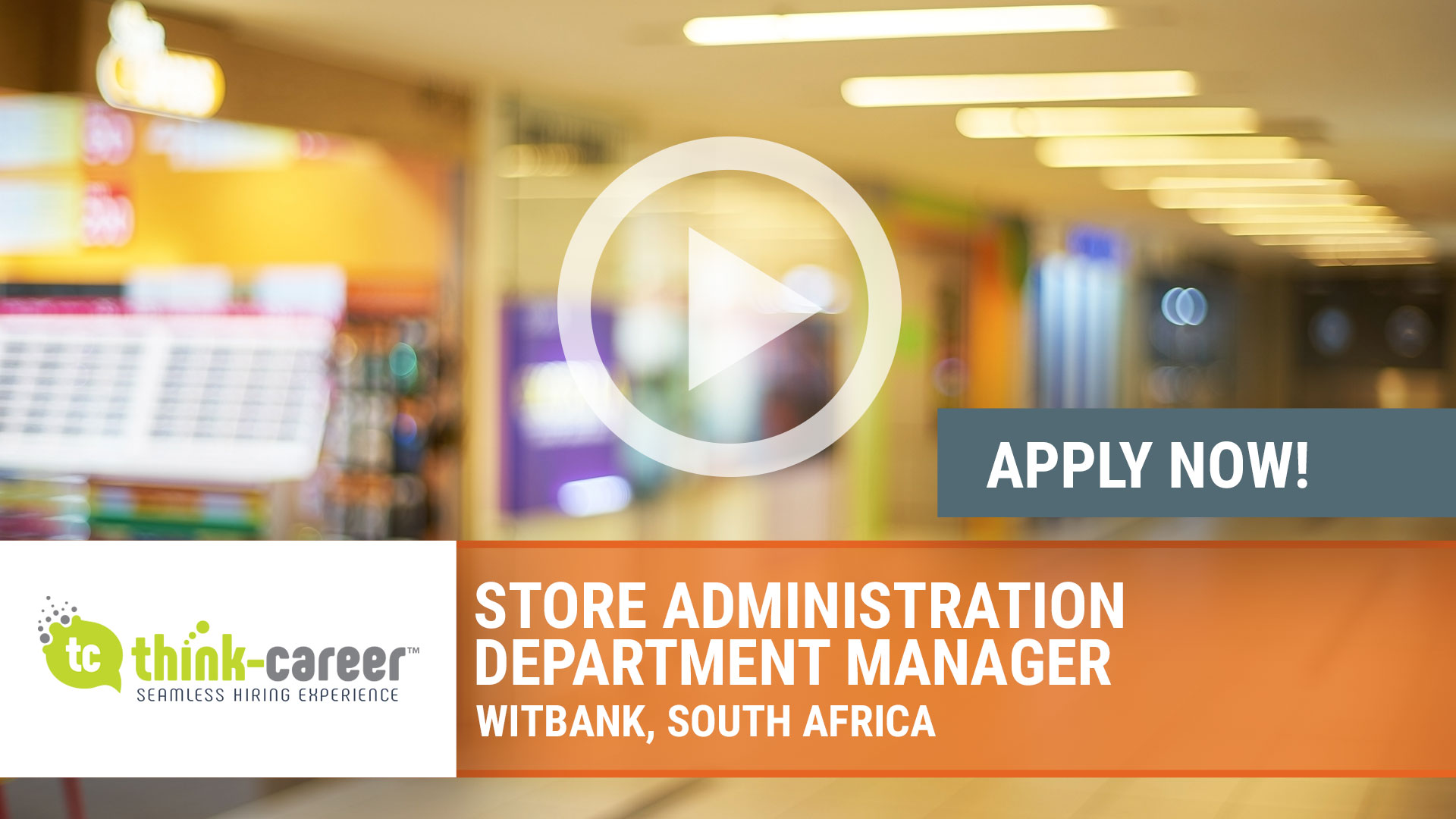 Watch our careers video for available job opening Store Administration Department Manager in Witbank, South Africa