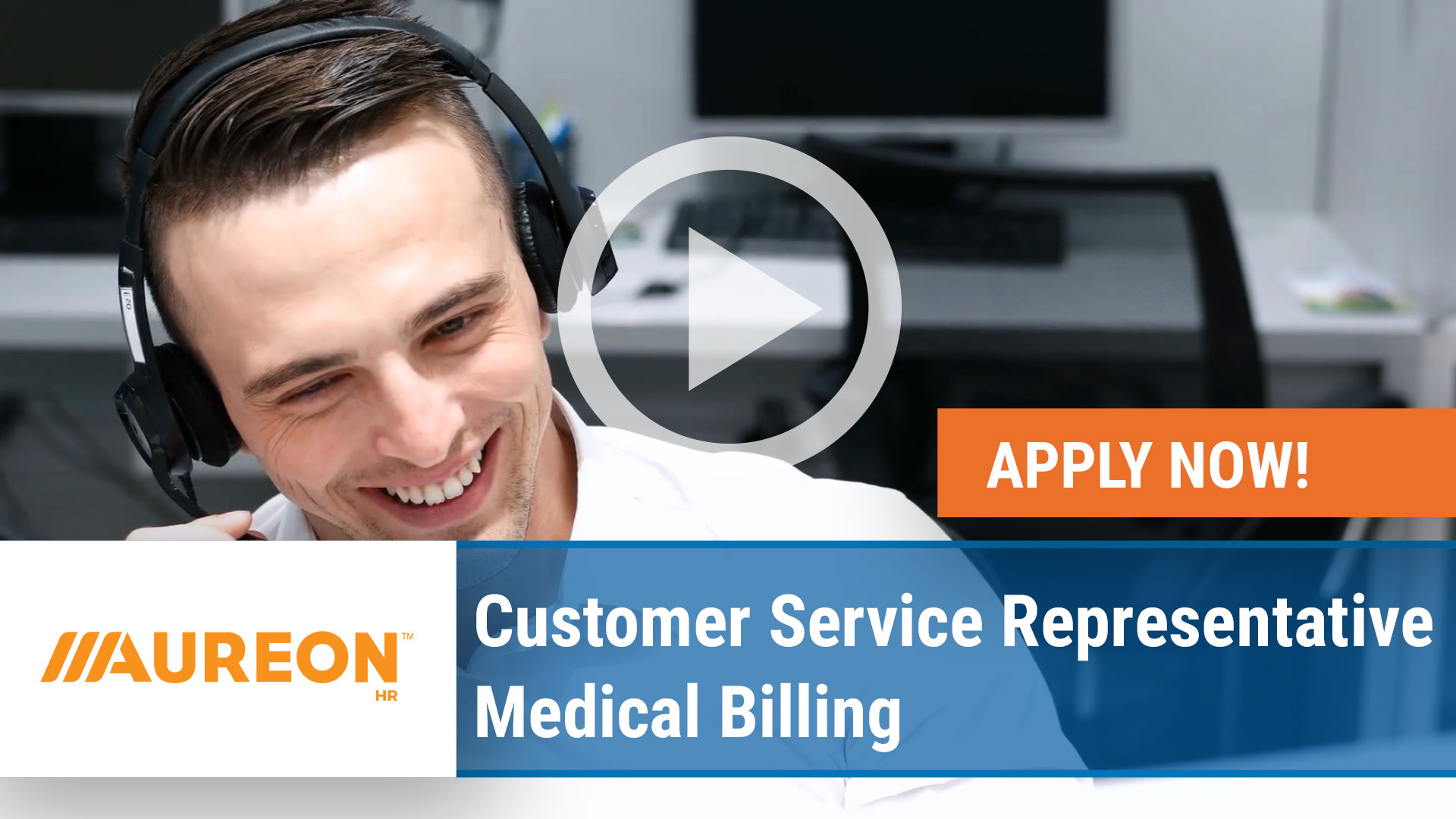 Watch our careers video for available job opening Customer Service Representative  Medical Billing in Ankeny ,  Iowa