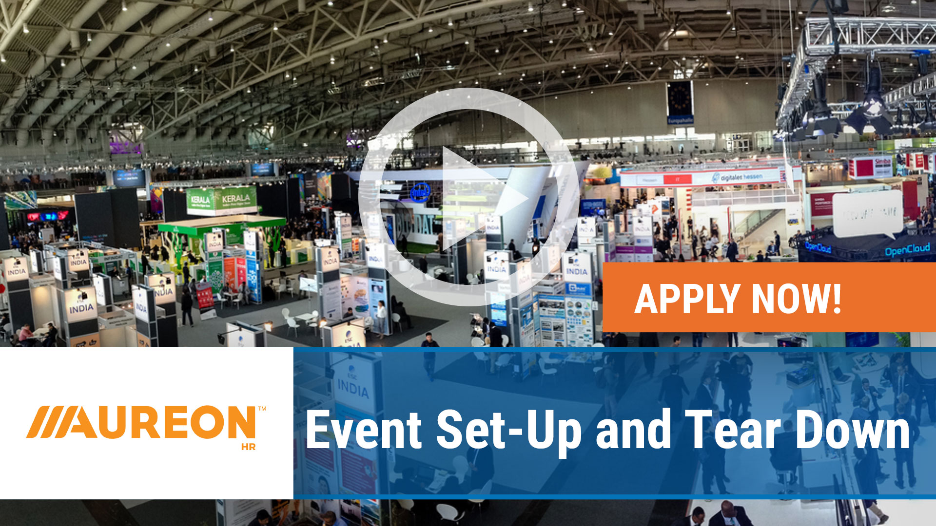 Watch our careers video for available job opening Event Set-Up and Tear Down in Des Moines,  Iowa