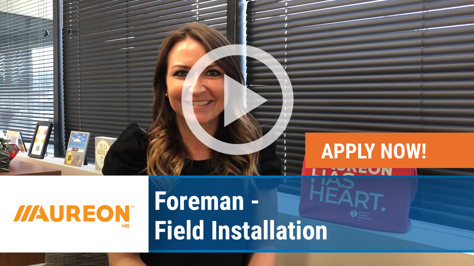 Watch our careers video for available job opening Foreman - Field Installation in Des Moines,  IA