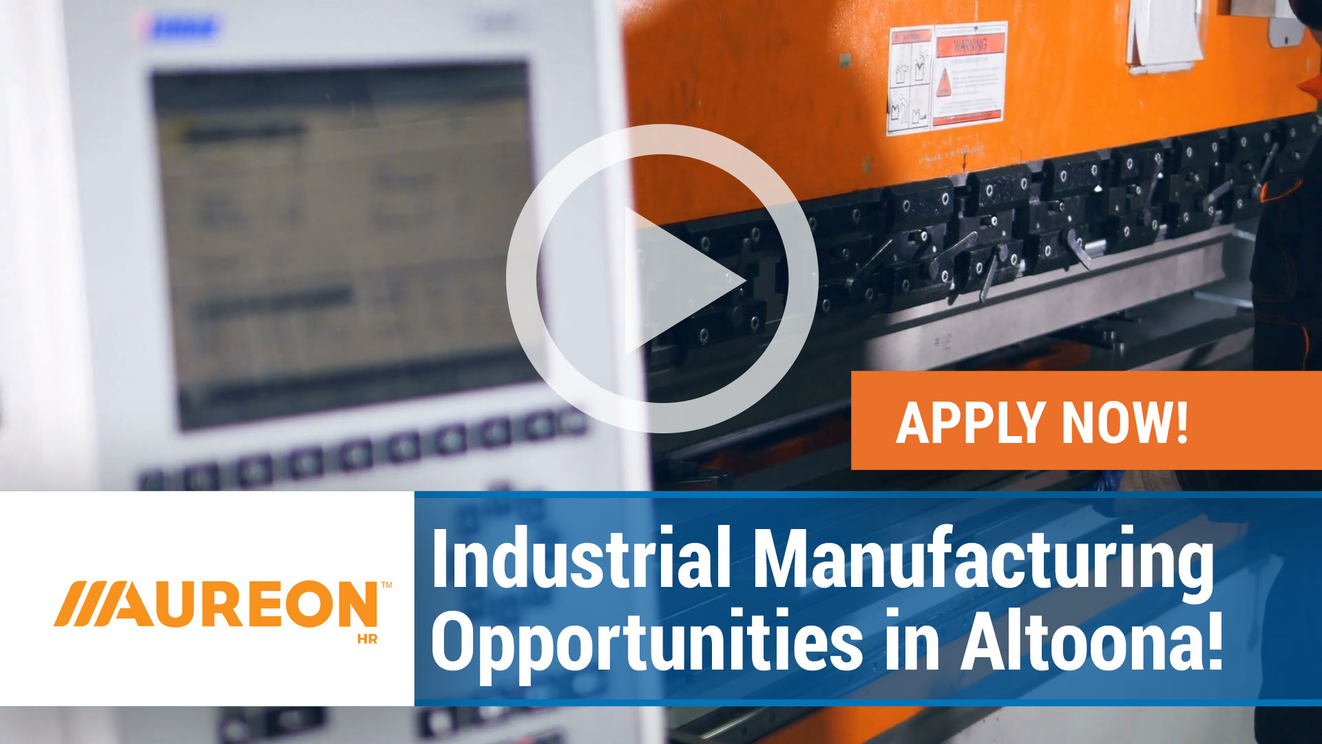 Watch our careers video for available job opening Industrial Manufacturing Opportunities in Altoona in Altoona,  Iowa