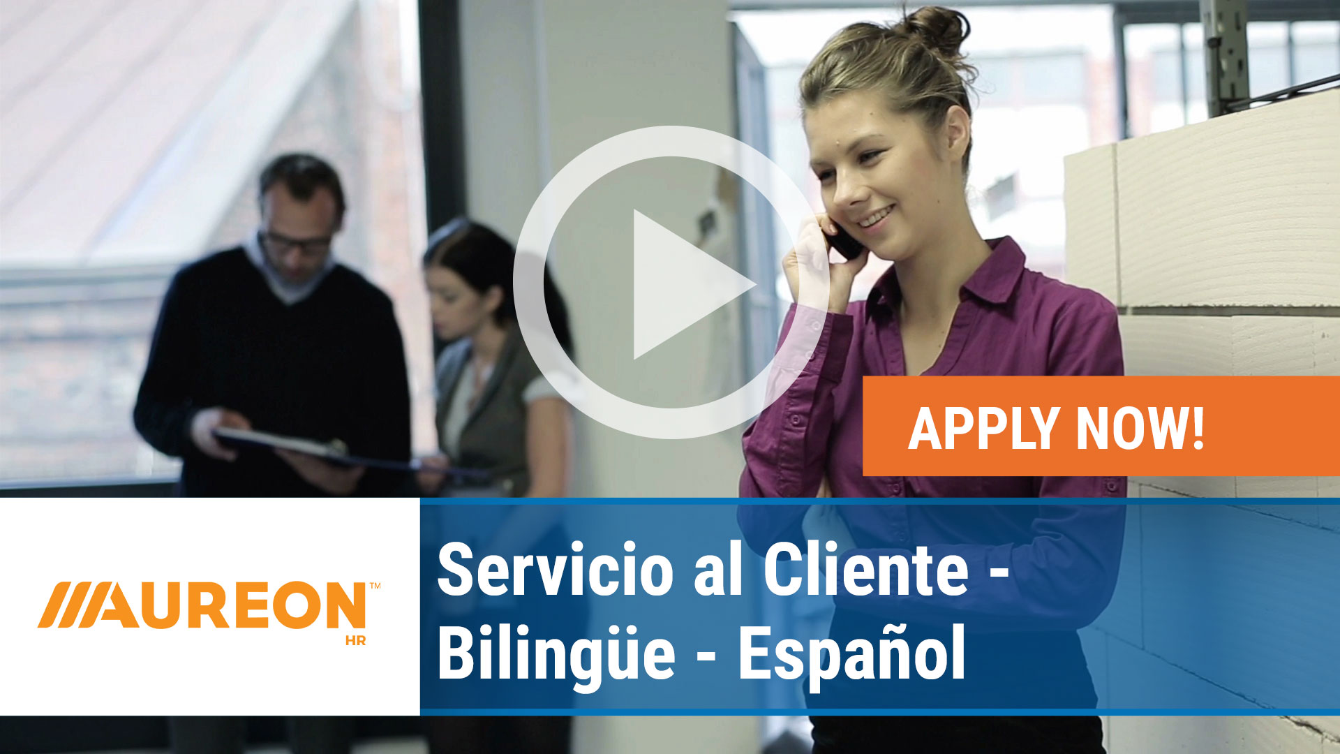 Watch our careers video for available job opening Servicio al Cliente - Bilingüe - Español in Des Moines, Iowa
