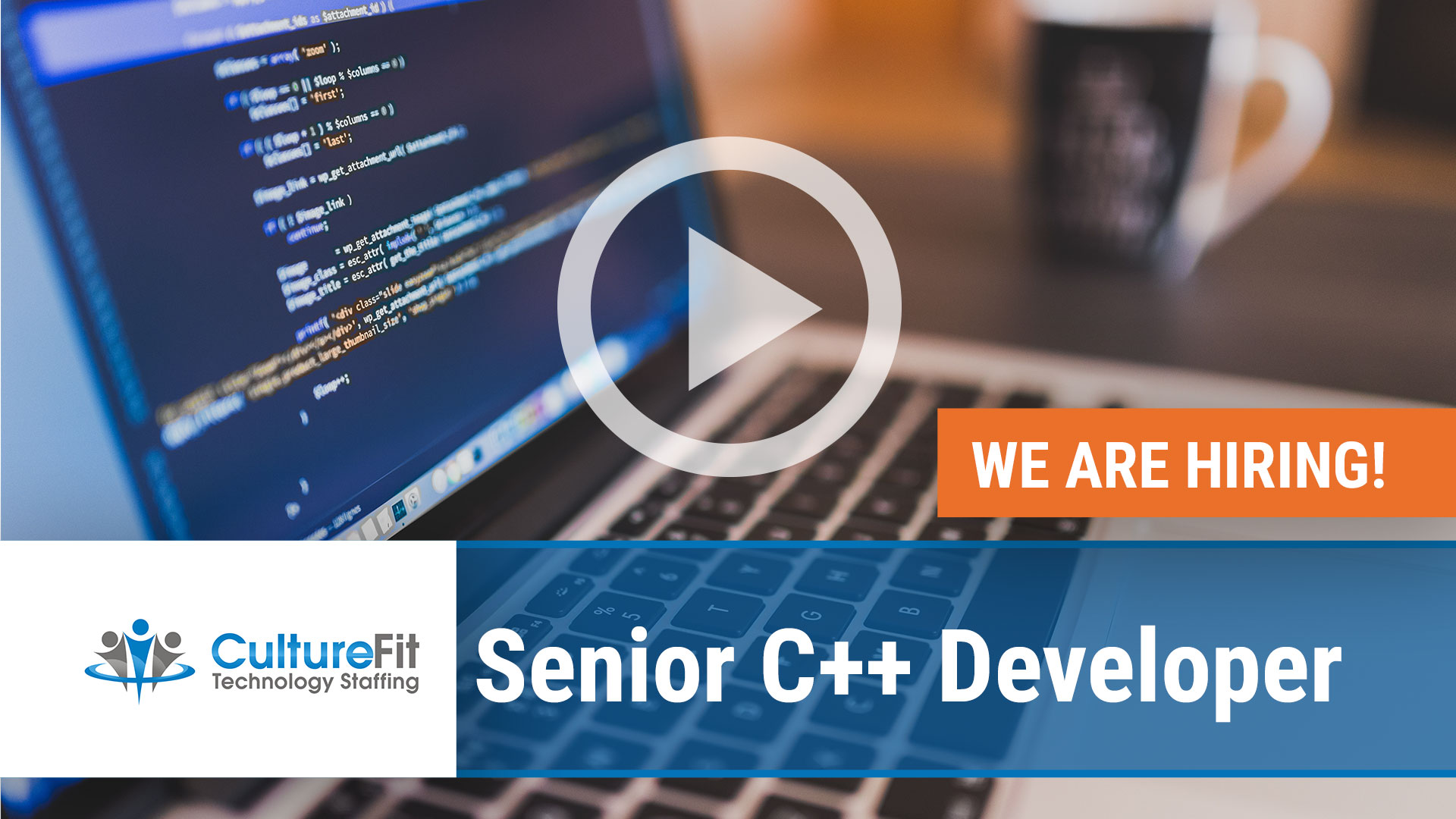 Watch our careers video for available job opening Sr. C Plus Plus Developer in Various, Nationwide