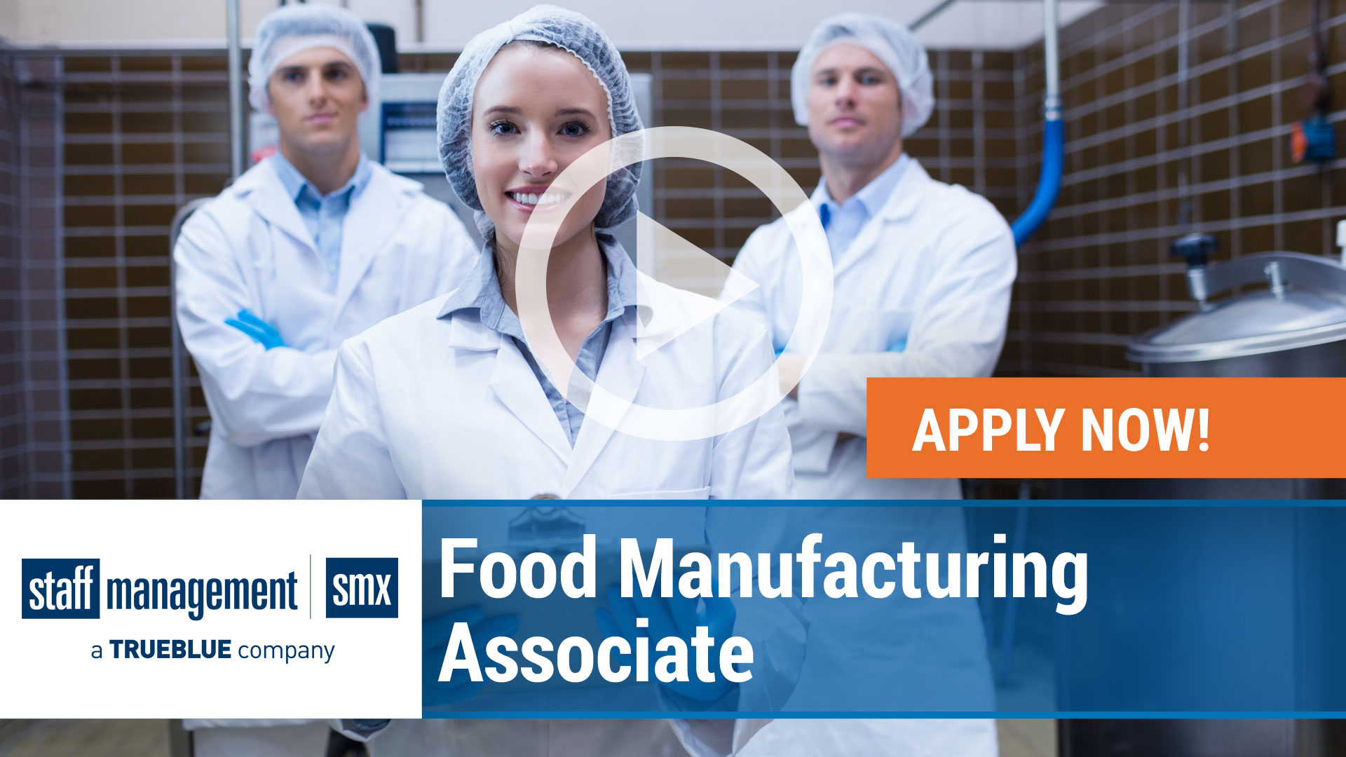 Watch our careers video for available job opening Food Manufacturing Associate in nationwide, USA