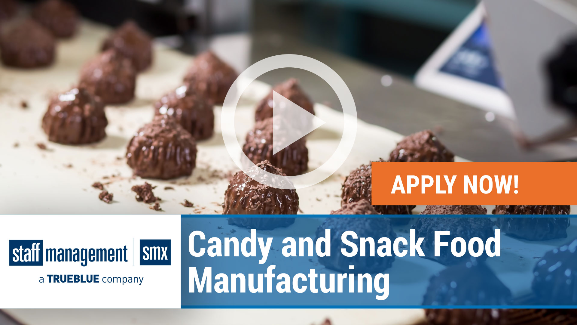 Watch our careers video for available job opening Candy and Snack Food Production Workers in nationwide, USA