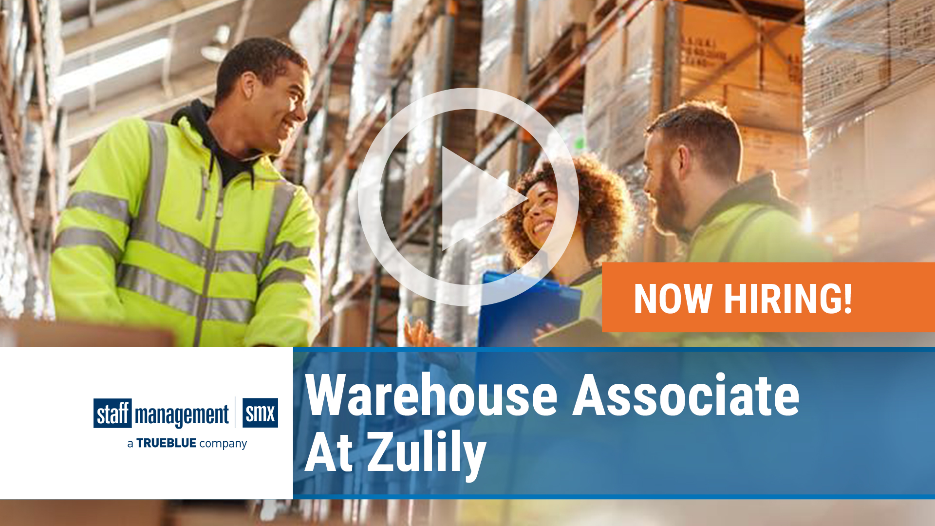 Watch our careers video for available job opening SMX Warehouse Associate at Zulily in USA