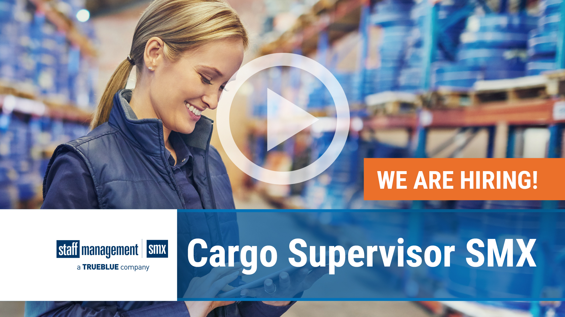 Watch our careers video for available job opening Cargo Supervisor SMX in Nationwide, USA