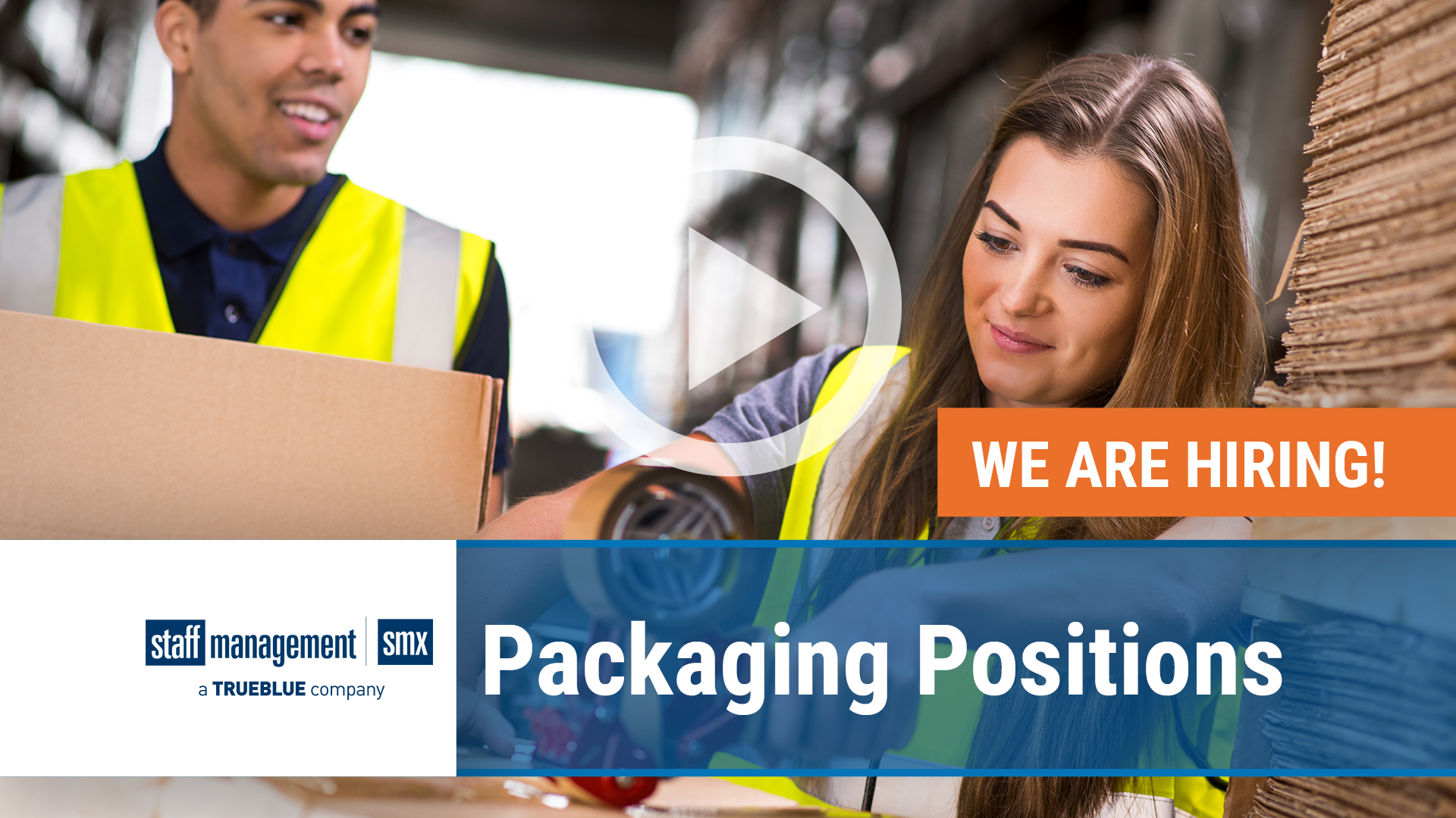 Watch our careers video for available job opening Seeking Hardworking Individuals for Packaging Positions in Asheboro, NC