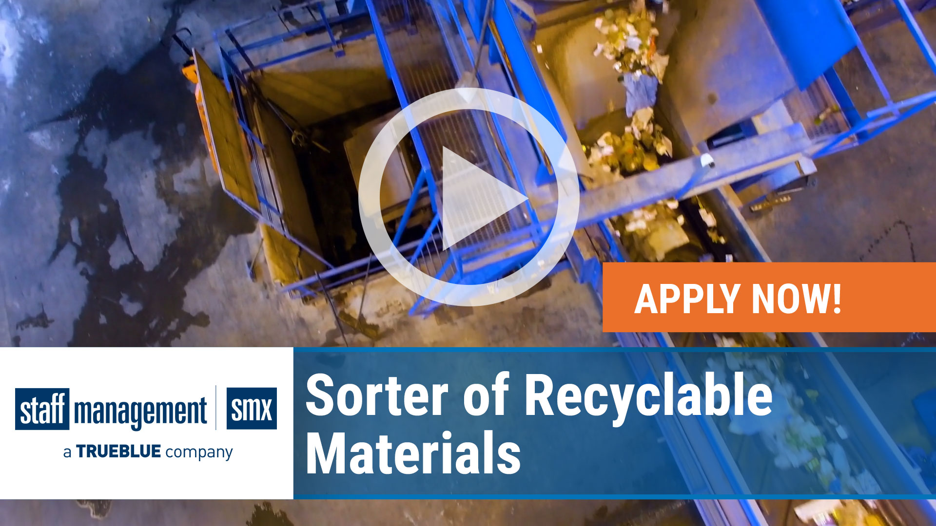 Watch our careers video for available job opening Sorter of Recyclable Materials  in Multlple, Nationwide