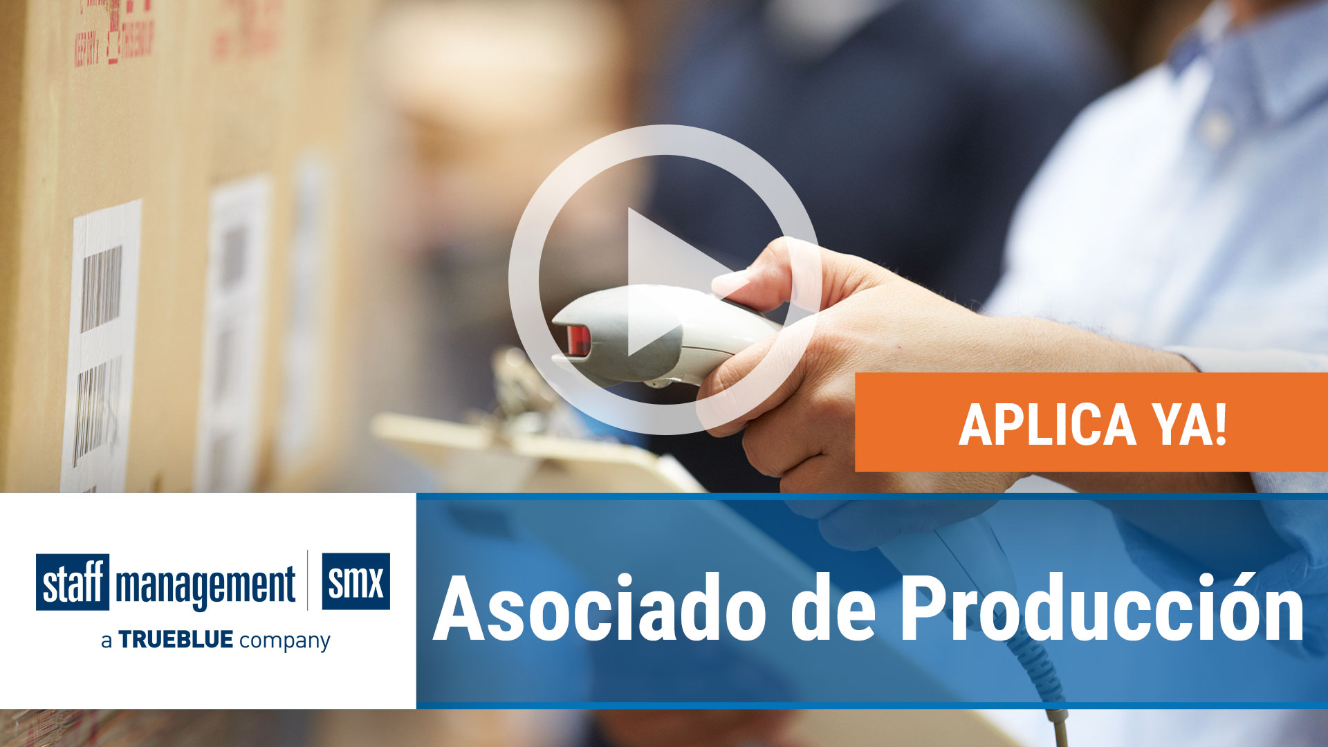 Watch our careers video for available job opening Asociado de Producción in Varies, Varies