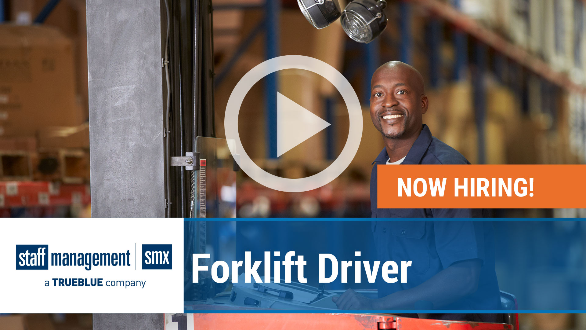 Watch our careers video for available job opening Forklift Driver in TBD, TBD
