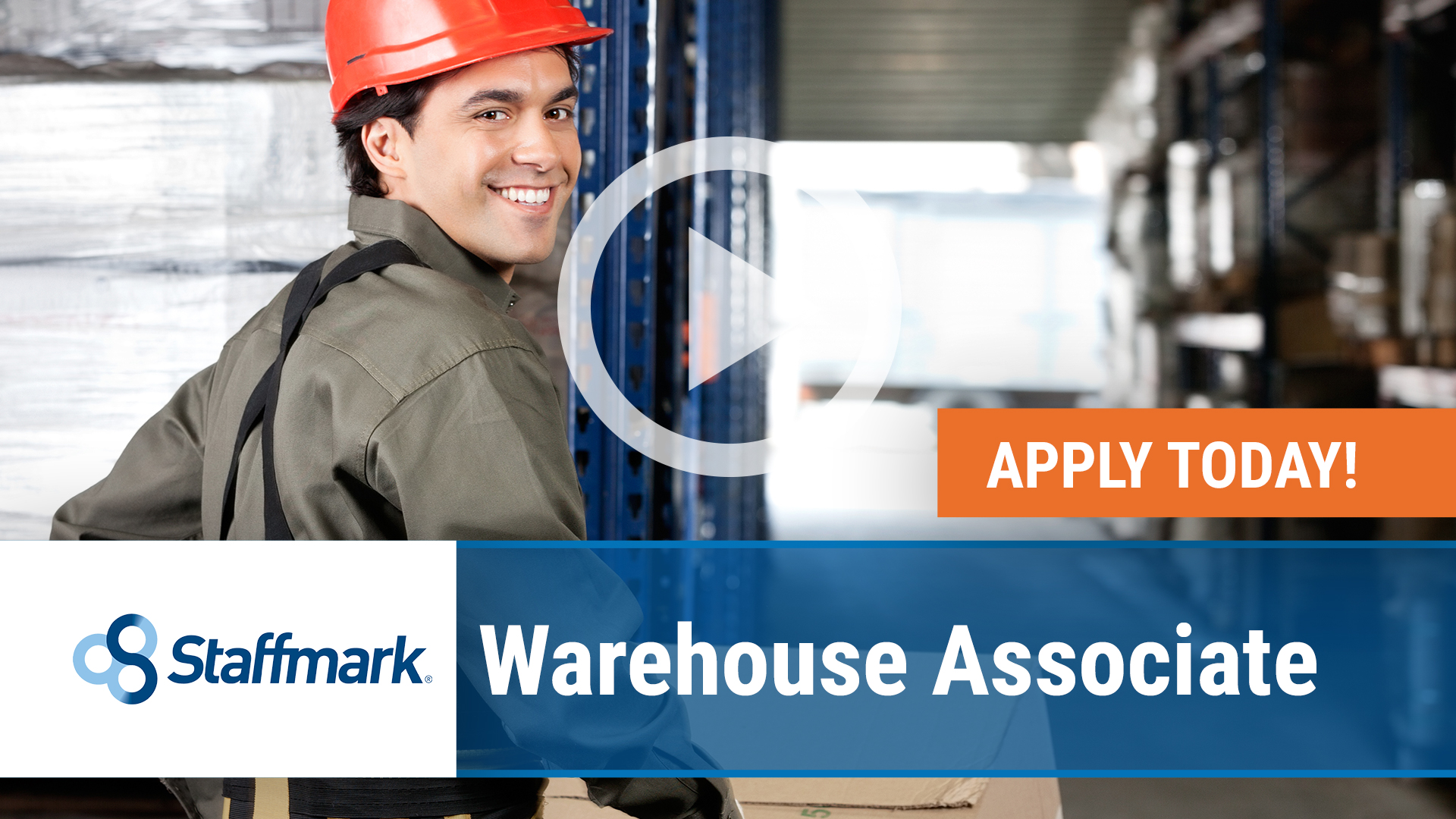 Watch our careers video for available job opening Warehouse Associate in Riverside, CA, USA