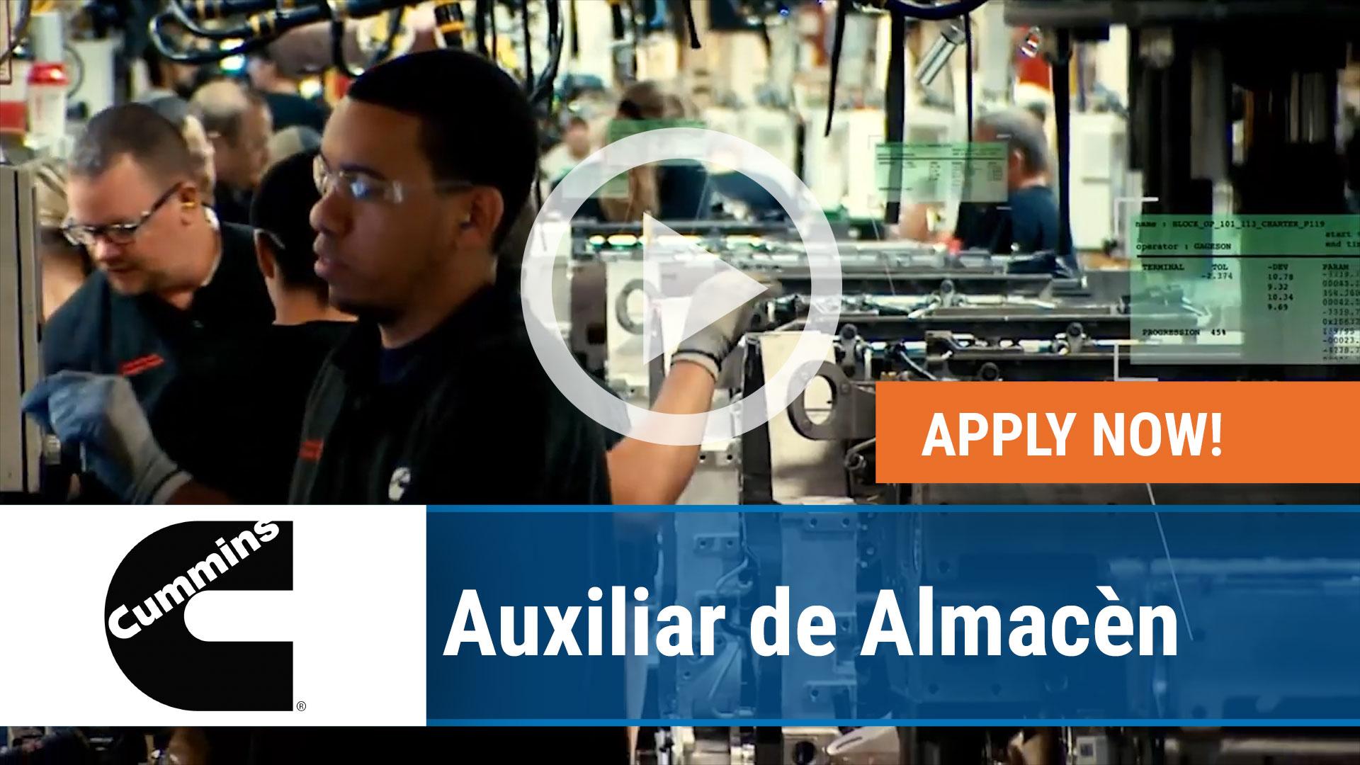 Watch our careers video for available job opening Auxiliar de Almacèn in San Luis Potosí, San Luis Pot