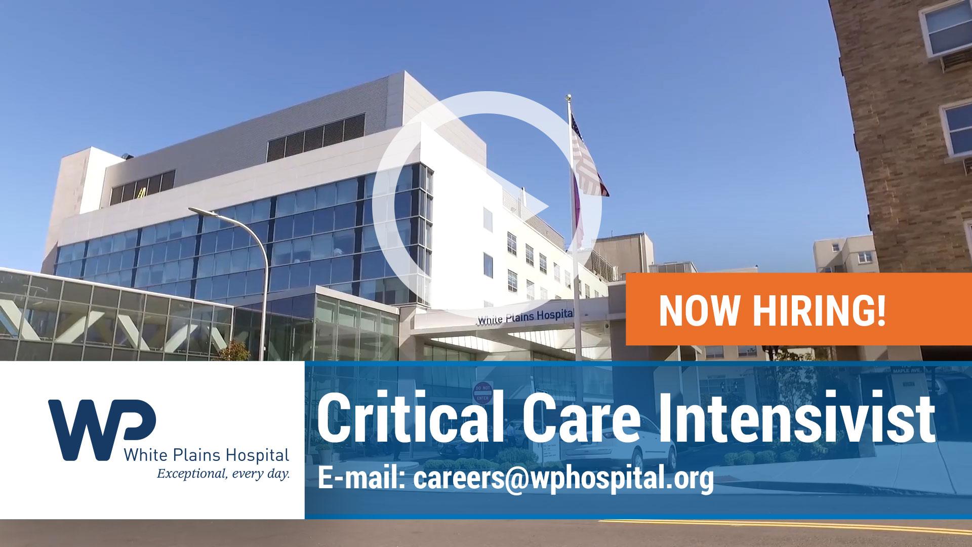 critical care intensivist physician  employment