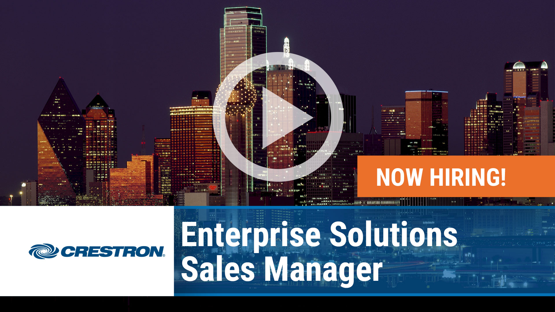 Watch our careers video for available job opening Enterprise Solutions Sales Manager in Houston, Texas