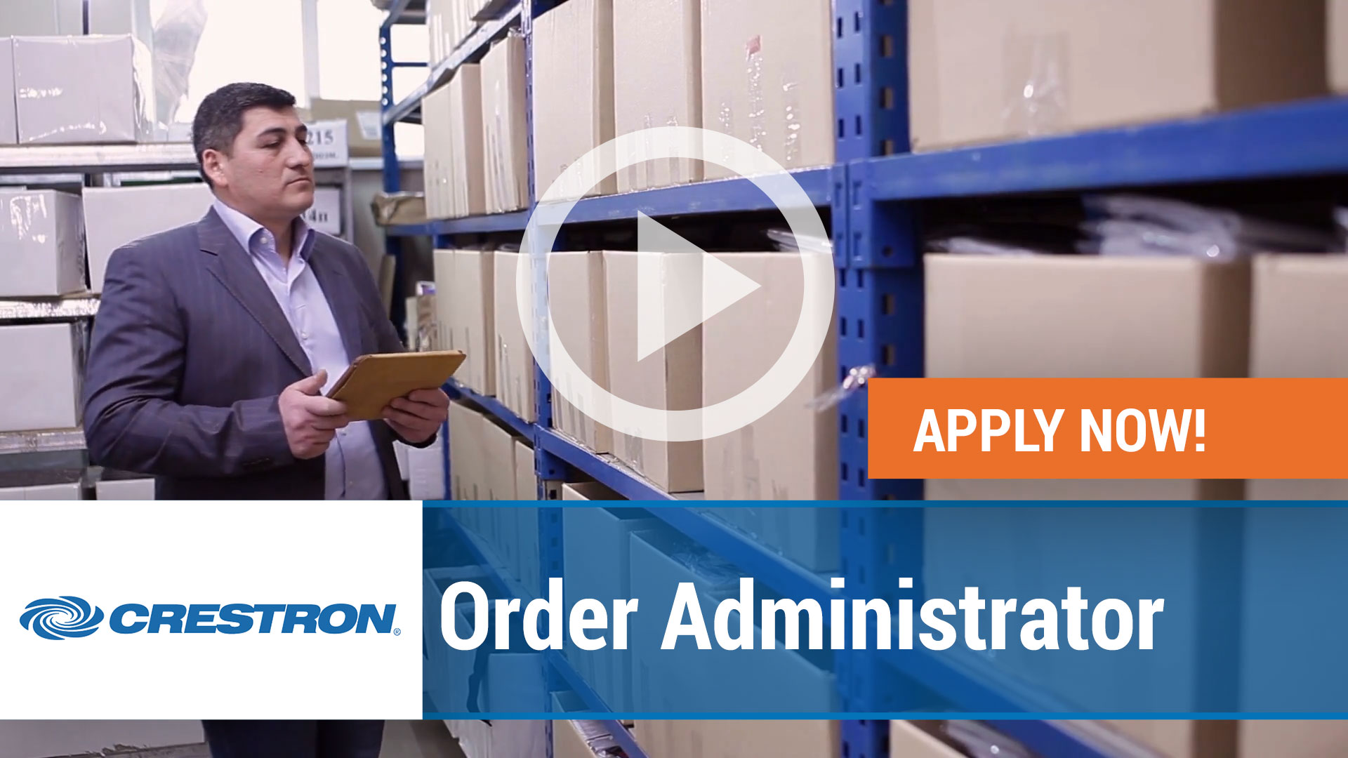Watch our careers video for available job opening Order Administrator in Rockleigh, New Jersey